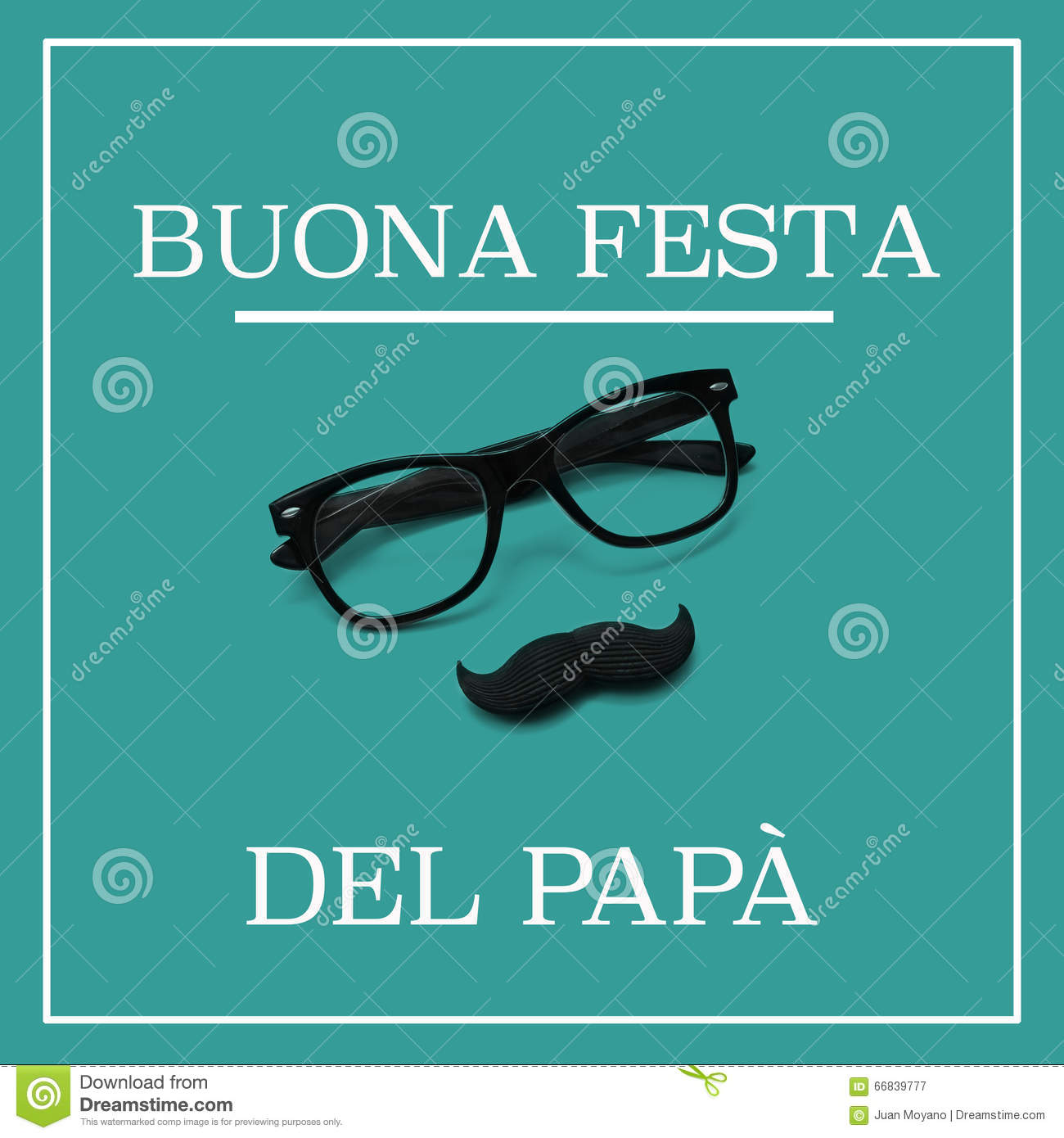 Text Buona Festa Del Papa Happy Fathers Day In Italian Illustration