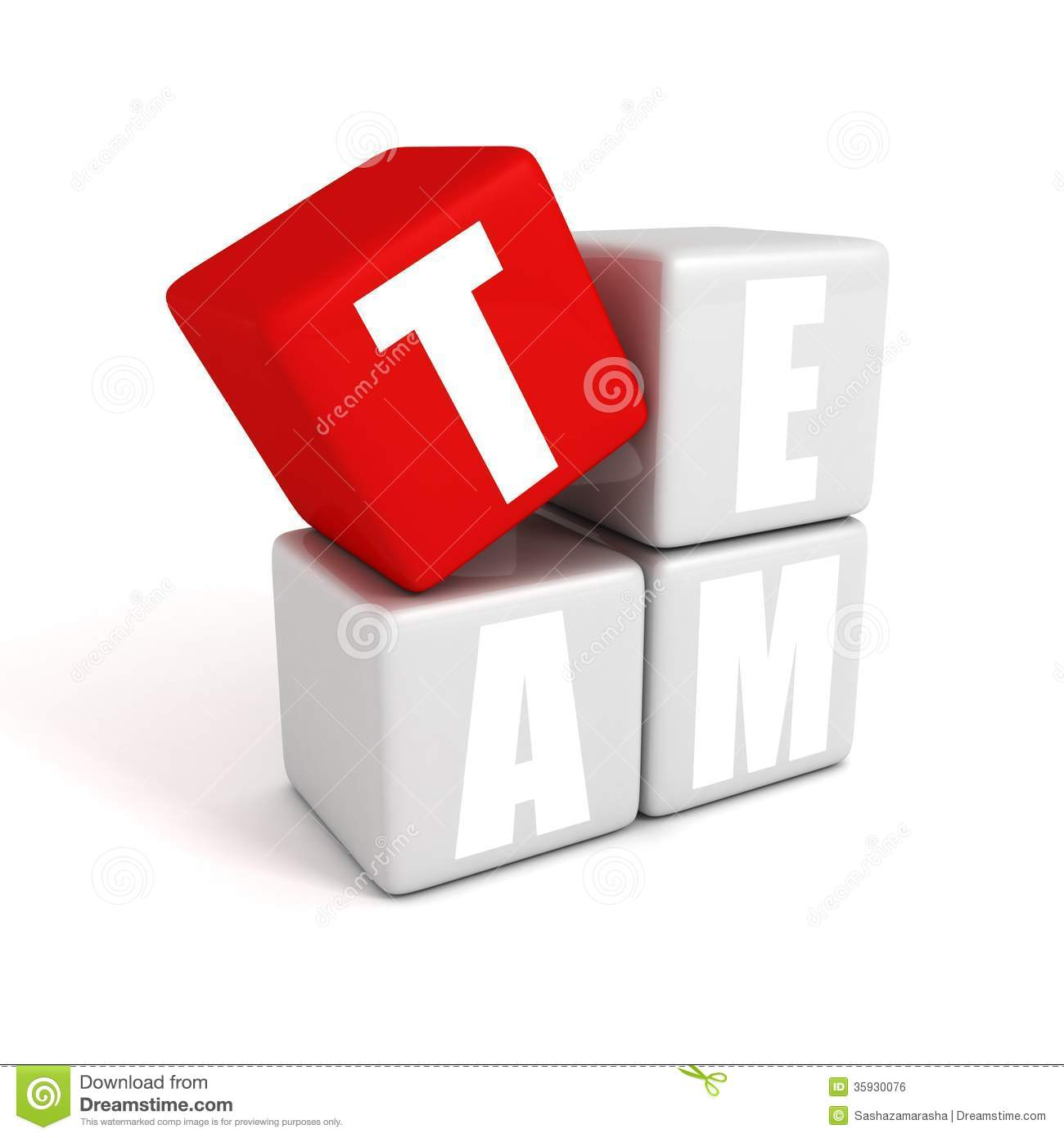 Text Concept Team Building Toy Blocks Royalty Free Stock ...