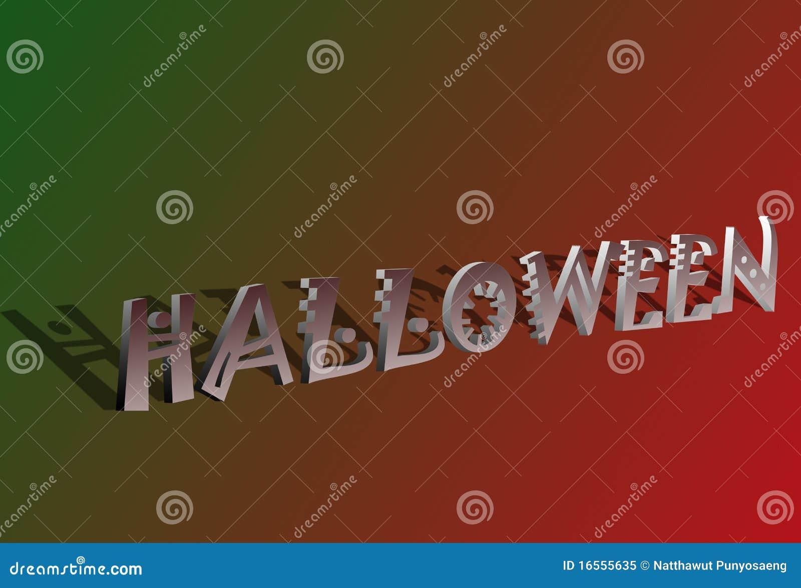 Text för 3d halloween