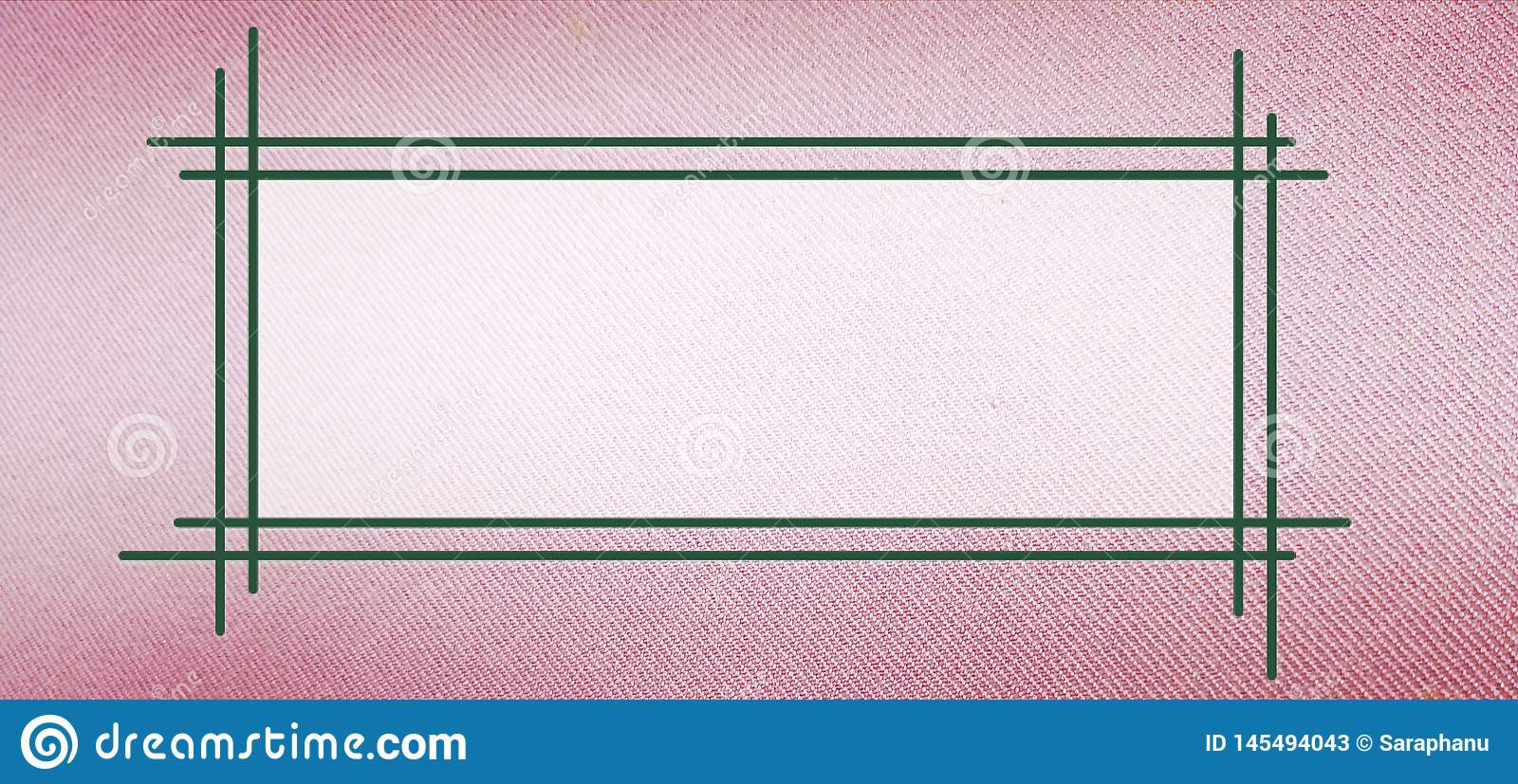 Text frame on pink cloth texture
