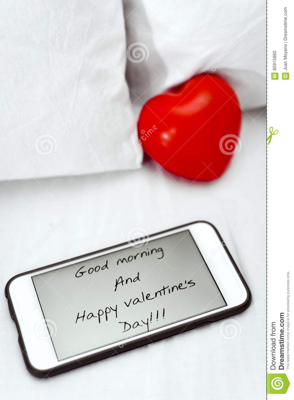 Text Good Morning And Happy Valentines Day Stock Photo Image Of