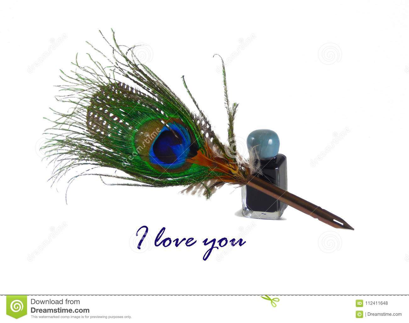 The text `I love you`