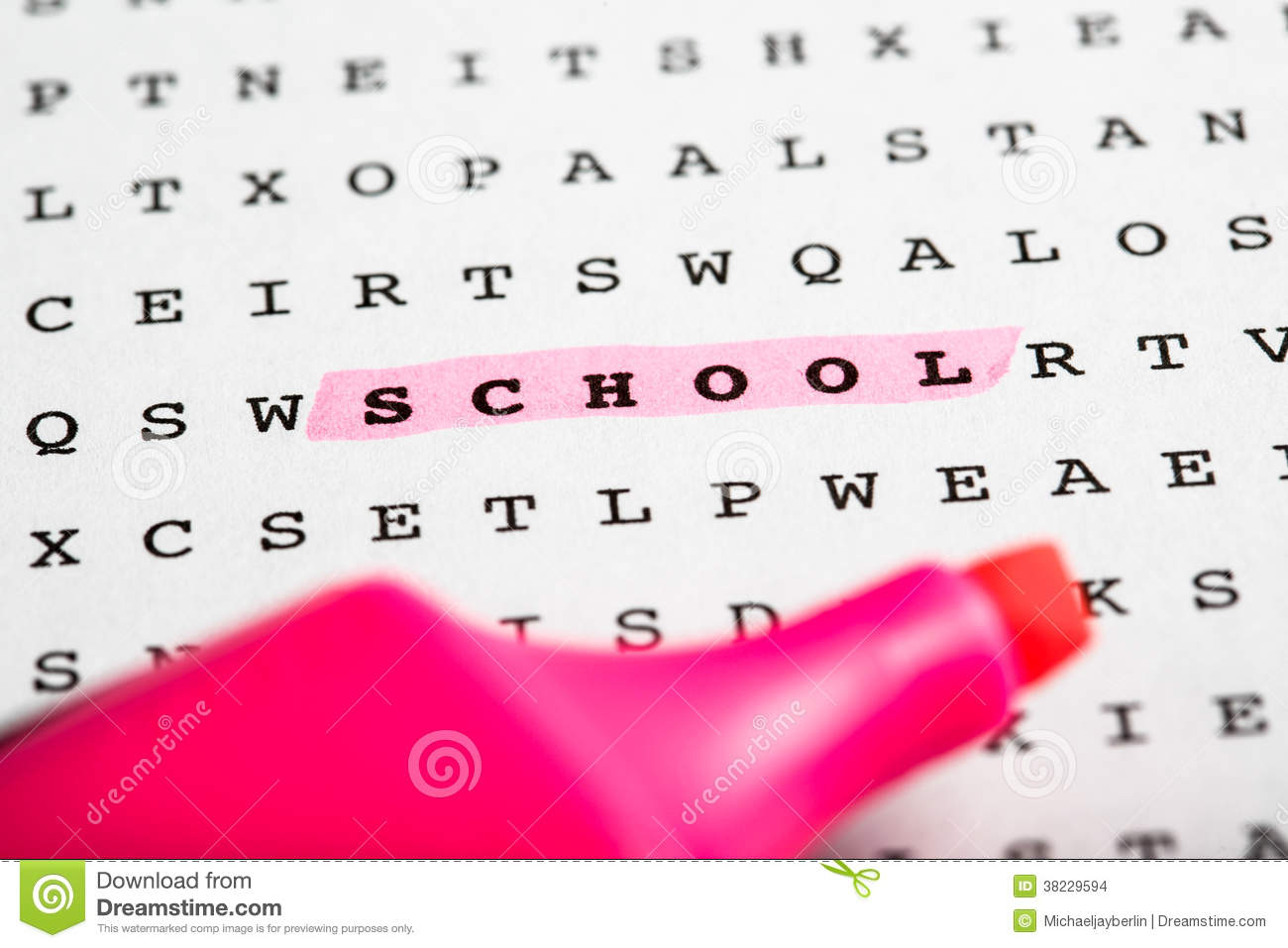 Text Marker On Word Puzzle - Newsletter Stock Photo - Image