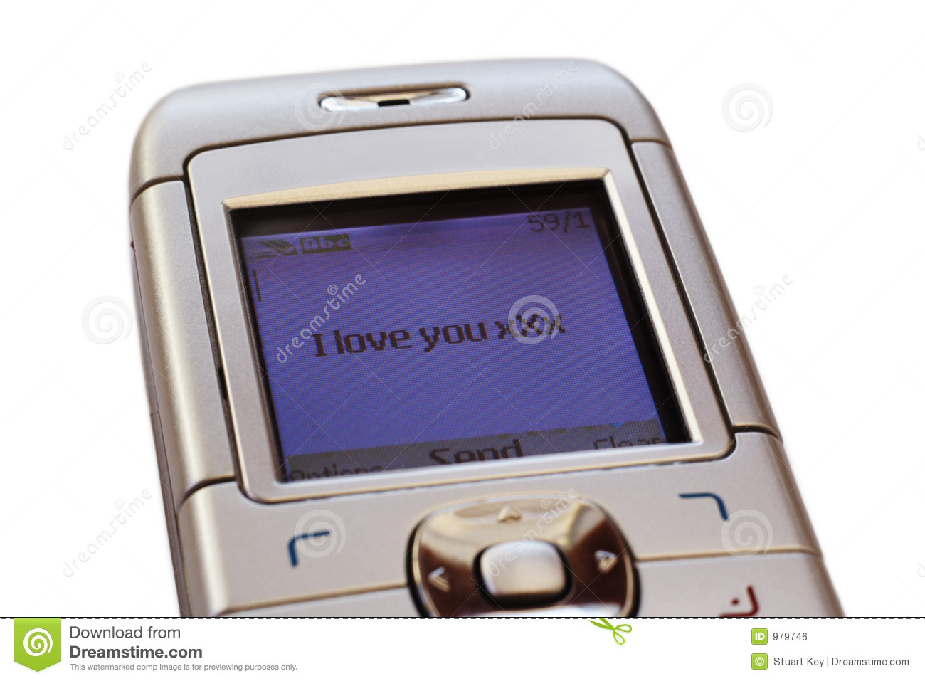 Text message of love