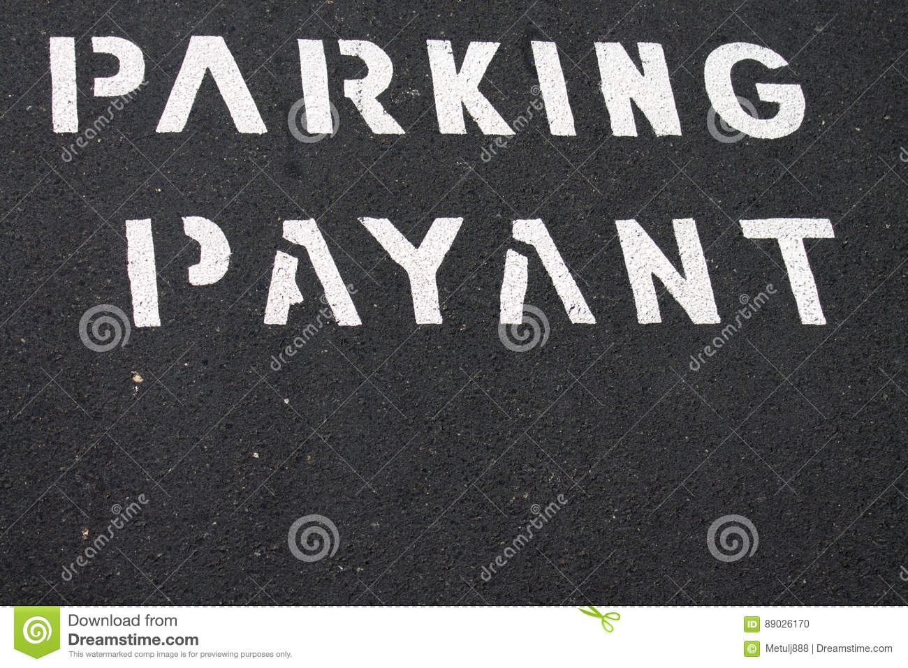 Text pay for parking in french
