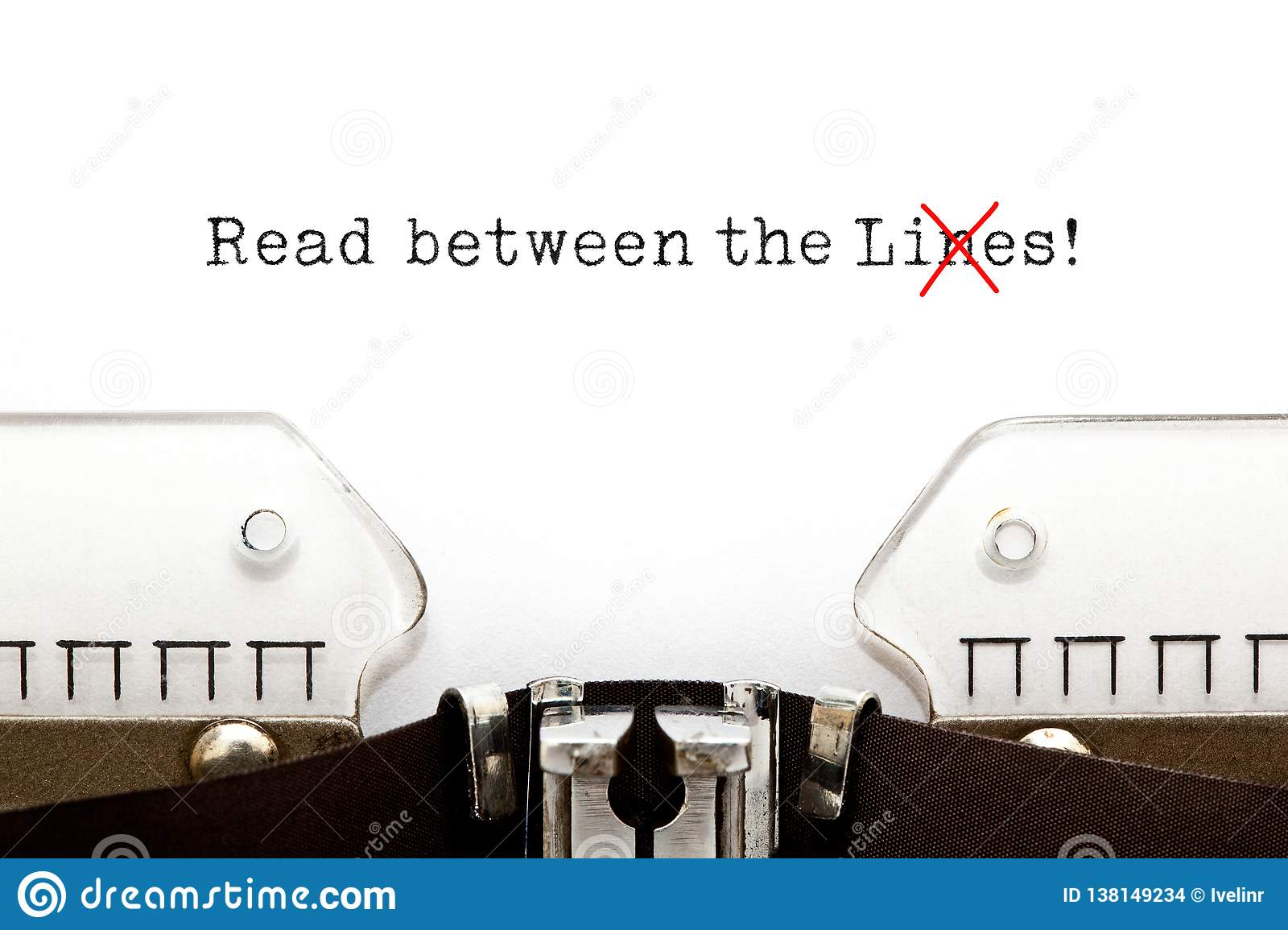 Read Between The Lies Concept On Typewriter