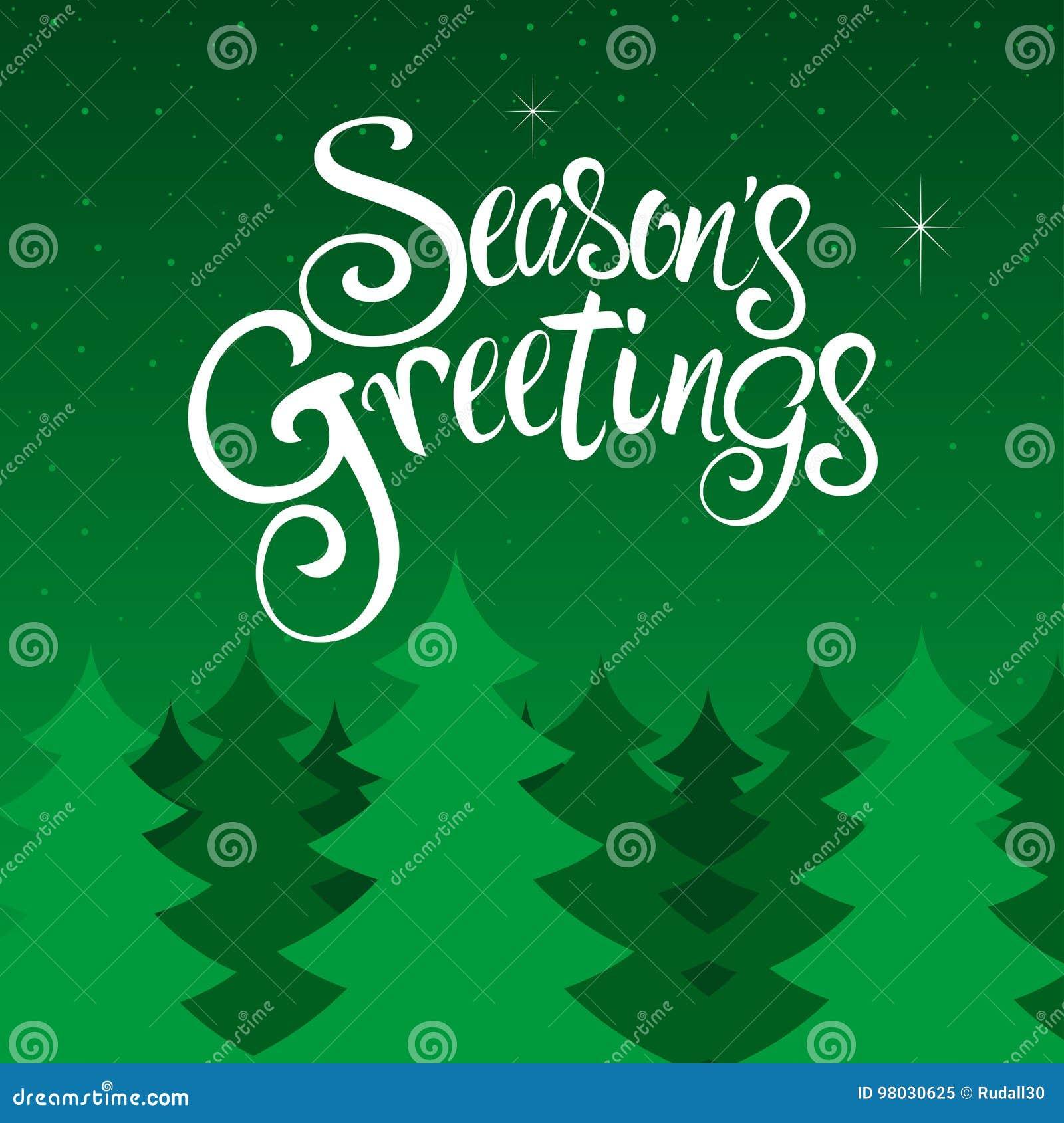 Seasons Greetings Text Stock Vector Illustration Of Font 98030625