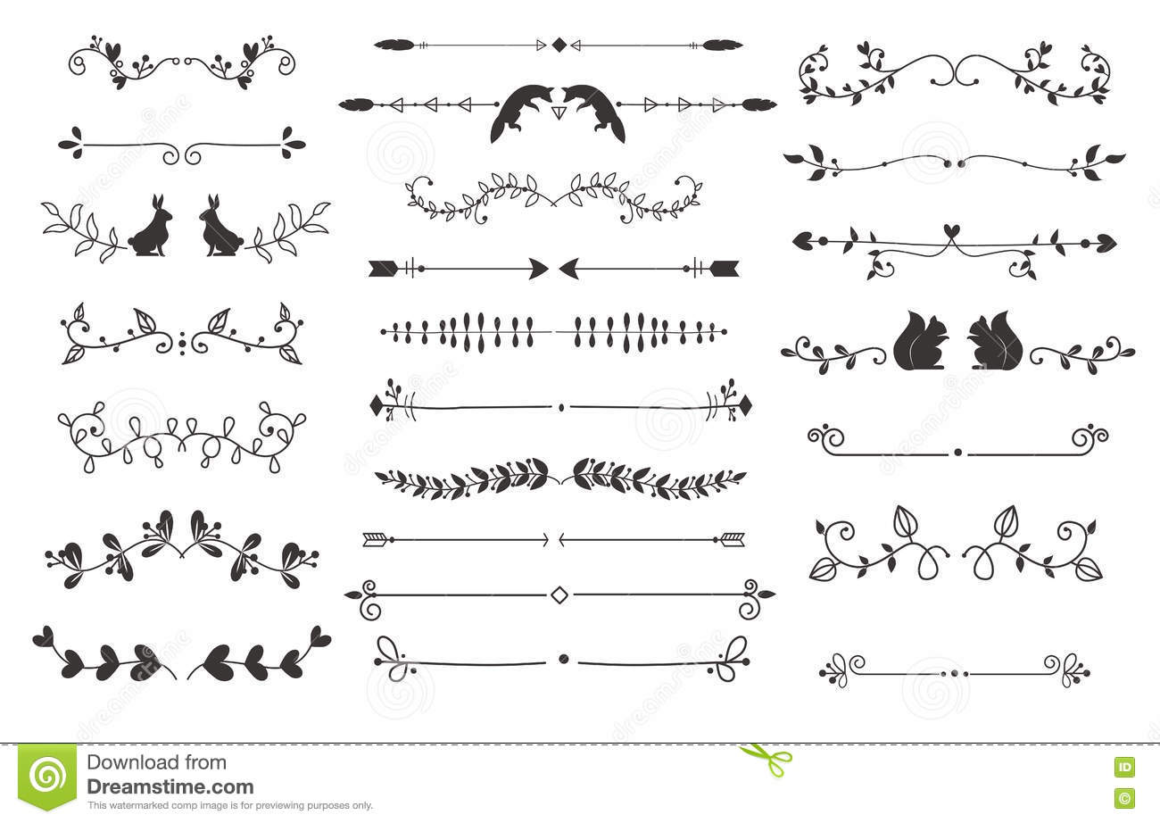Text Separators Decoration Vector Set. Stock Vector ...