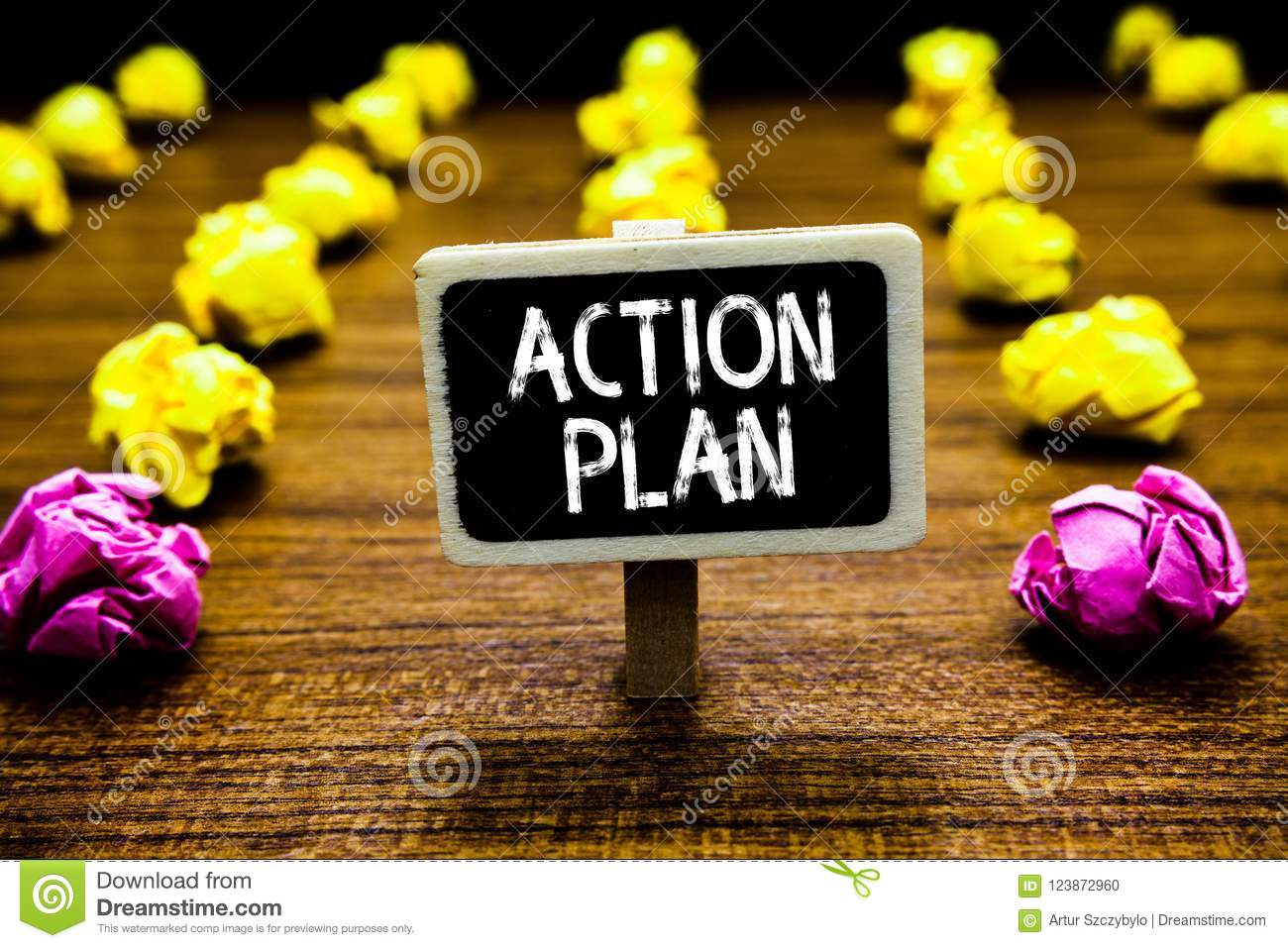 Text Sign Showing Action Plan Conceptual Photo List Of Things Or