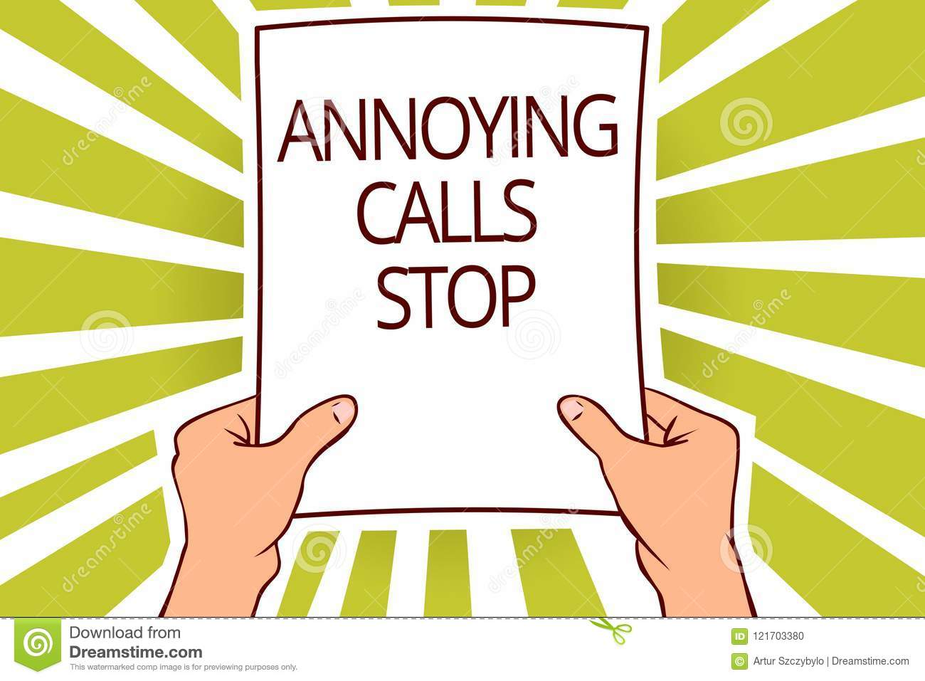 Text Sign Showing Annoying Calls Stop  Conceptual Photo