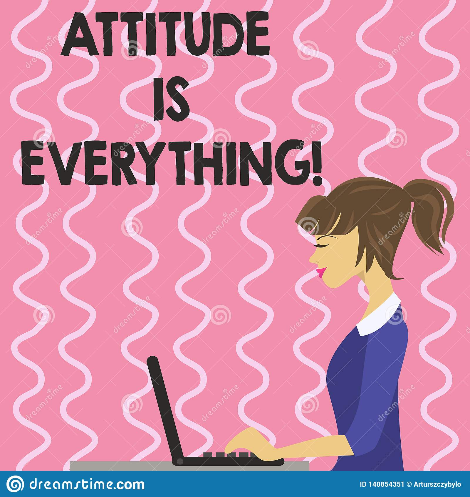 Text sign showing Attitude Is Everything. Conceptual photo Motivation Inspiration Optimism important to succeed.