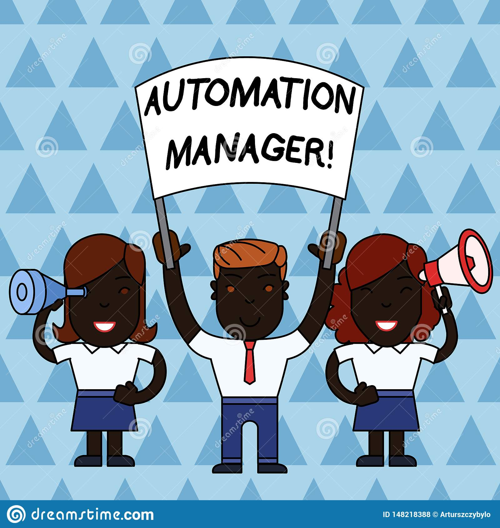 Text Sign Showing Automation Manager  Conceptual Photo Eliminate