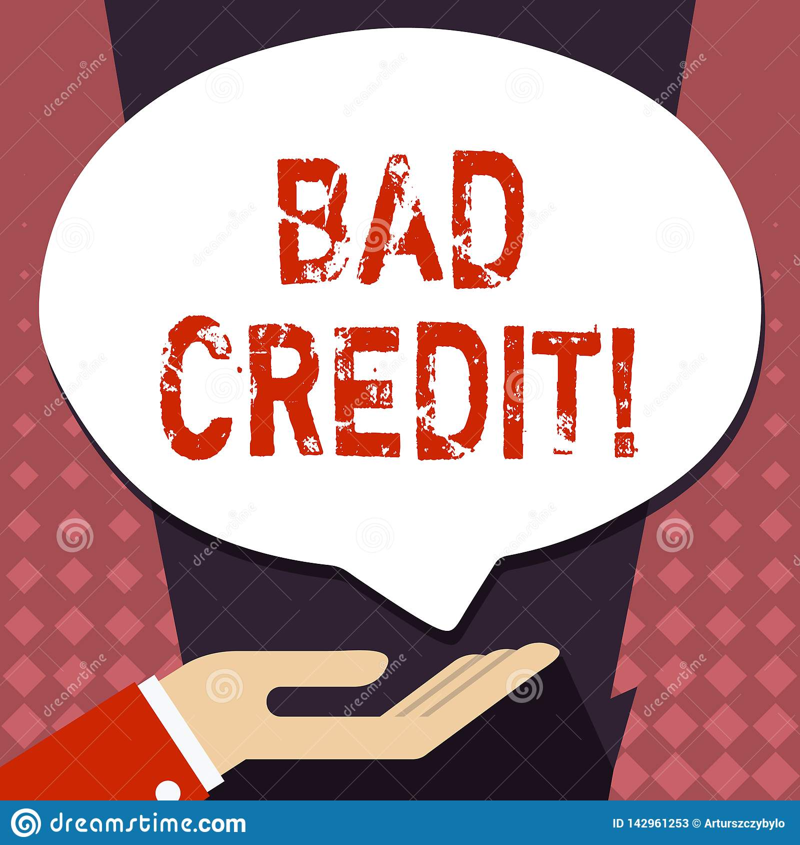 Loan With Bad Credit >> Text Sign Showing Bad Credit Conceptual Photo Offering Help