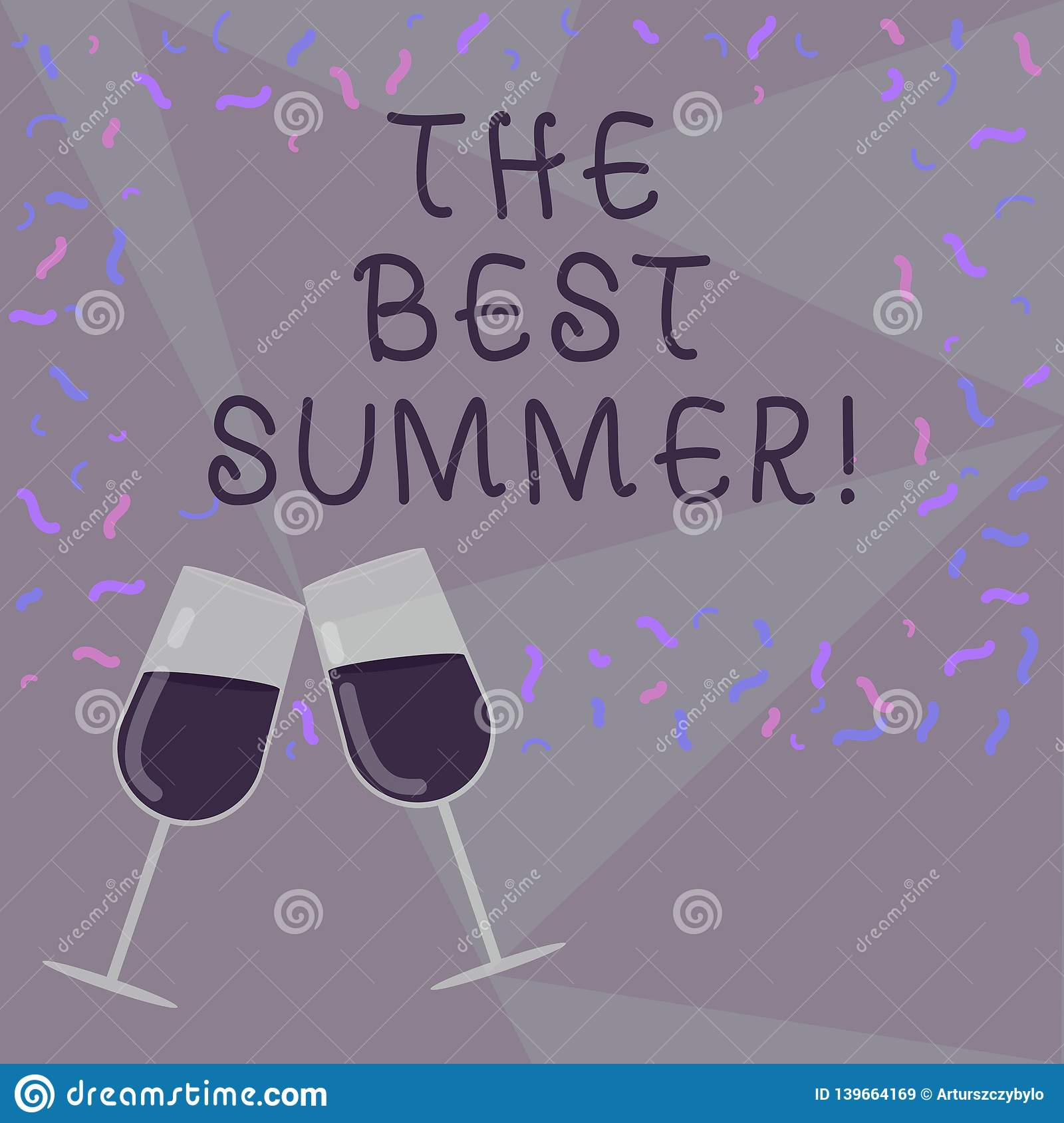 Text sign showing The Best Summer. Conceptual photo Great sunny season of the year exciting vacation time Filled Wine