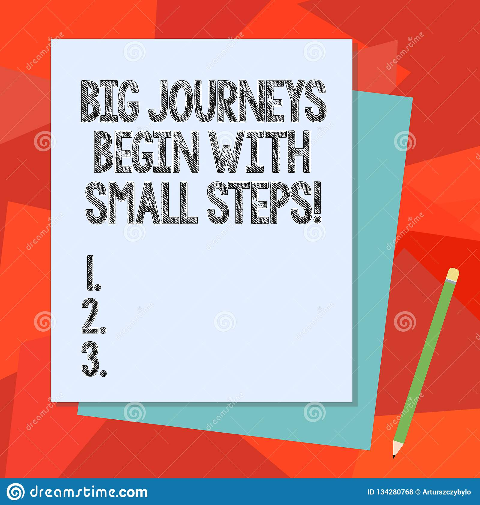 Text sign showing Big Journeys Begin With Small Steps. Conceptual photo One step at a time to reach your goals Stack of