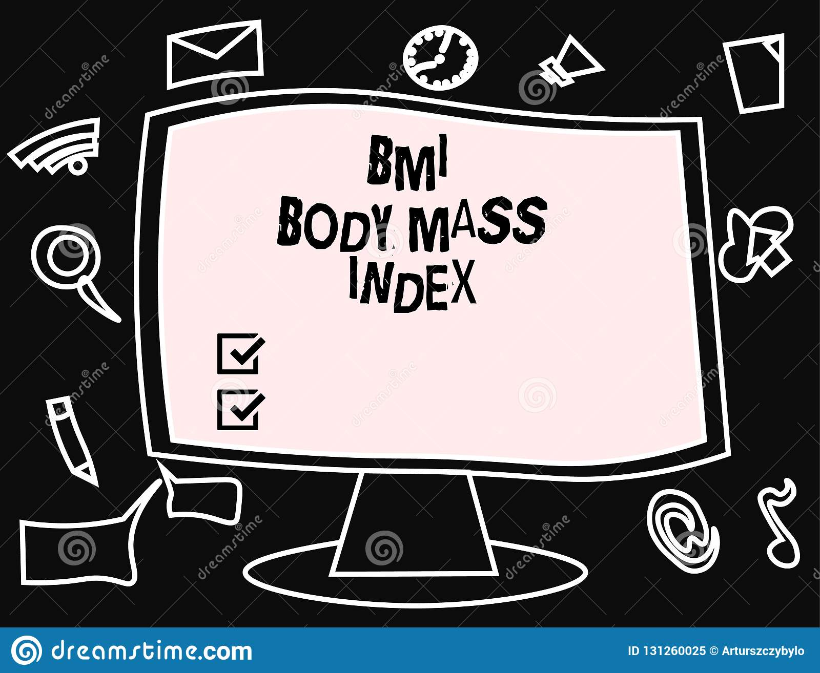 Text sign showing Bmi Body Mass Index. Conceptual photo body fat based on weight and weight measurement