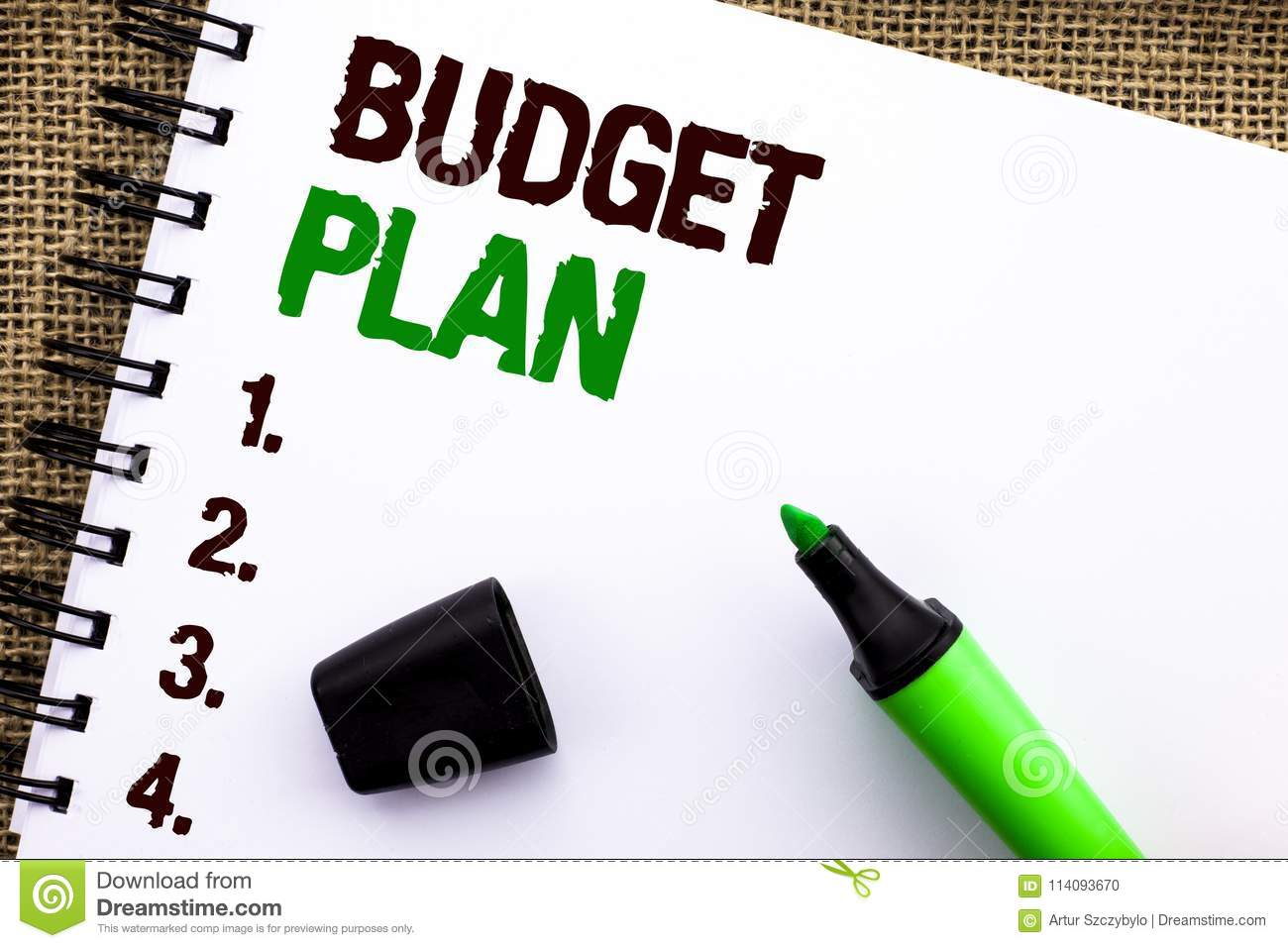 text sign showing budget plan conceptual photo accounting strategy