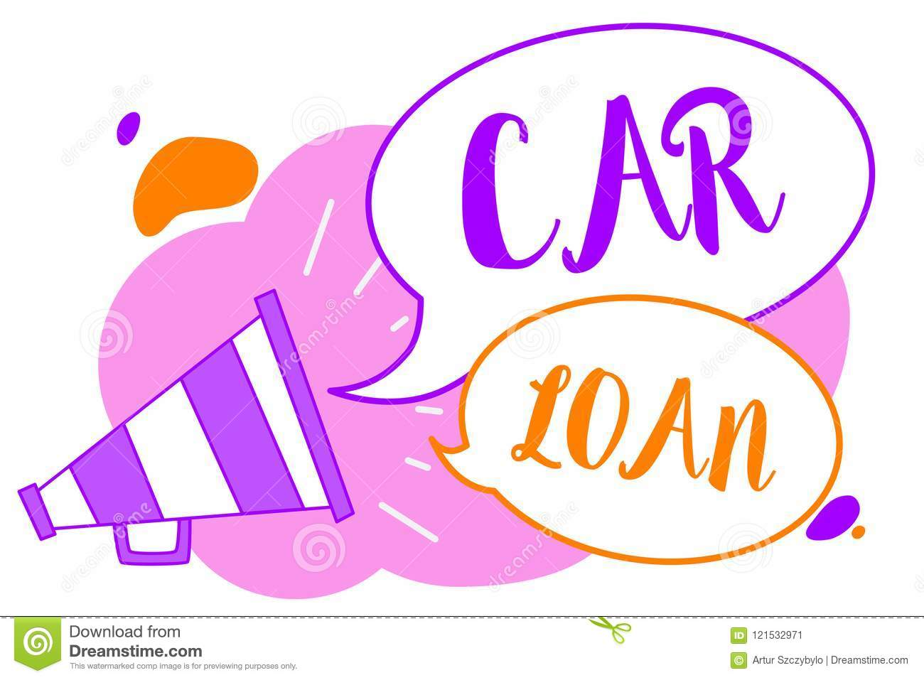 Text sign showing Car Loan. Conceptual photo taking money from bank with big interest to buy new vehicle Megaphone loudspeaker spe