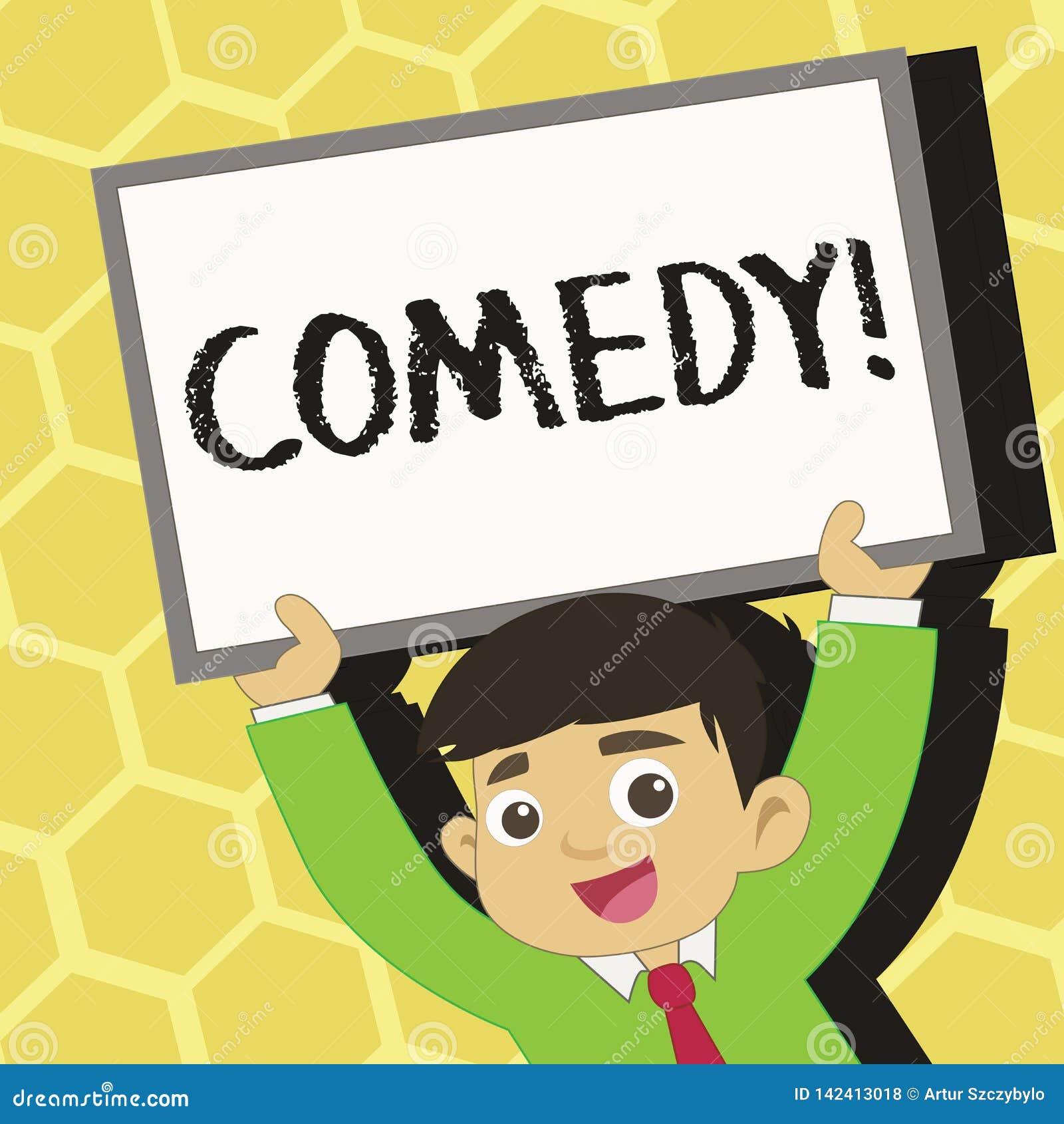 Text Sign Showing Comedy Conceptual Photo Fun Humor Satire Sitcom