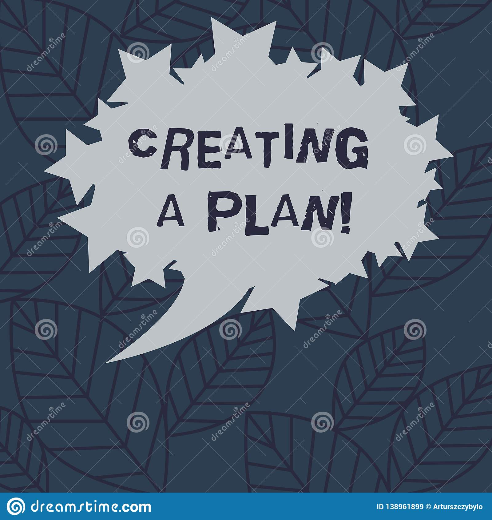 Text sign showing Creating A Plan. Conceptual photo Establish steps to follow for a project strategy to succeed Blank