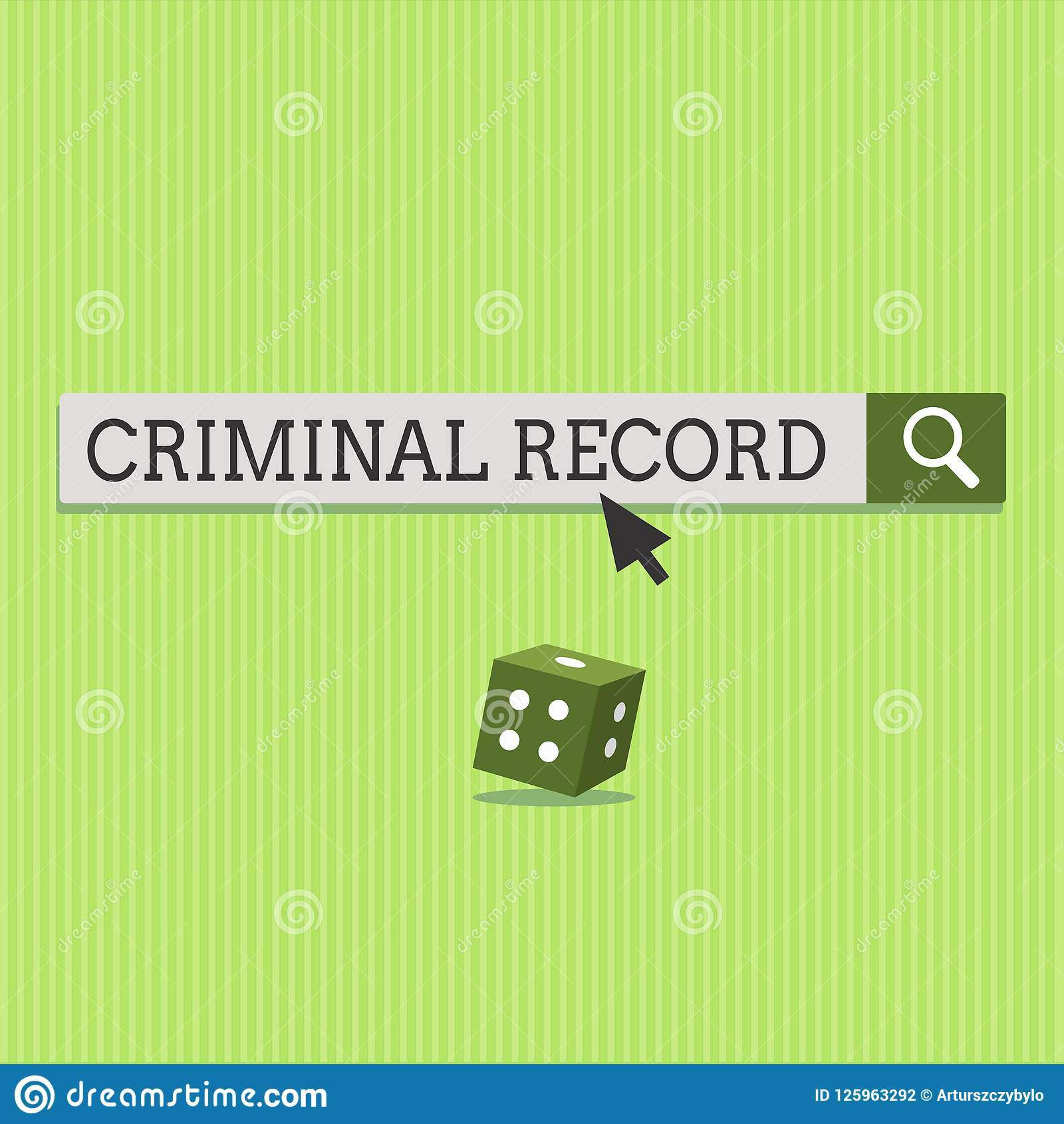 Text Sign Showing Criminal Record  Conceptual Photo Profile Of A