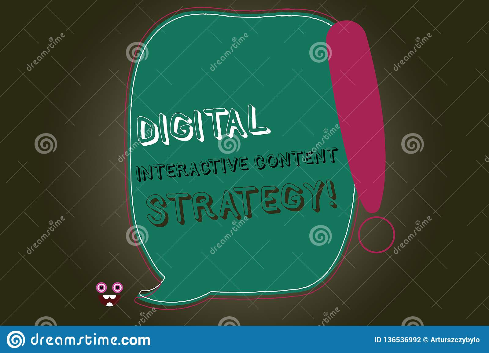 Text Sign Showing Digital Interactive Content Strategy