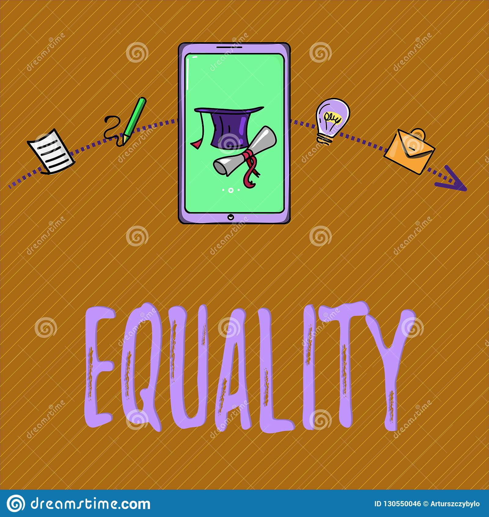 Text sign showing Equality. Conceptual photo state of being equal especially in status rights or opportunities