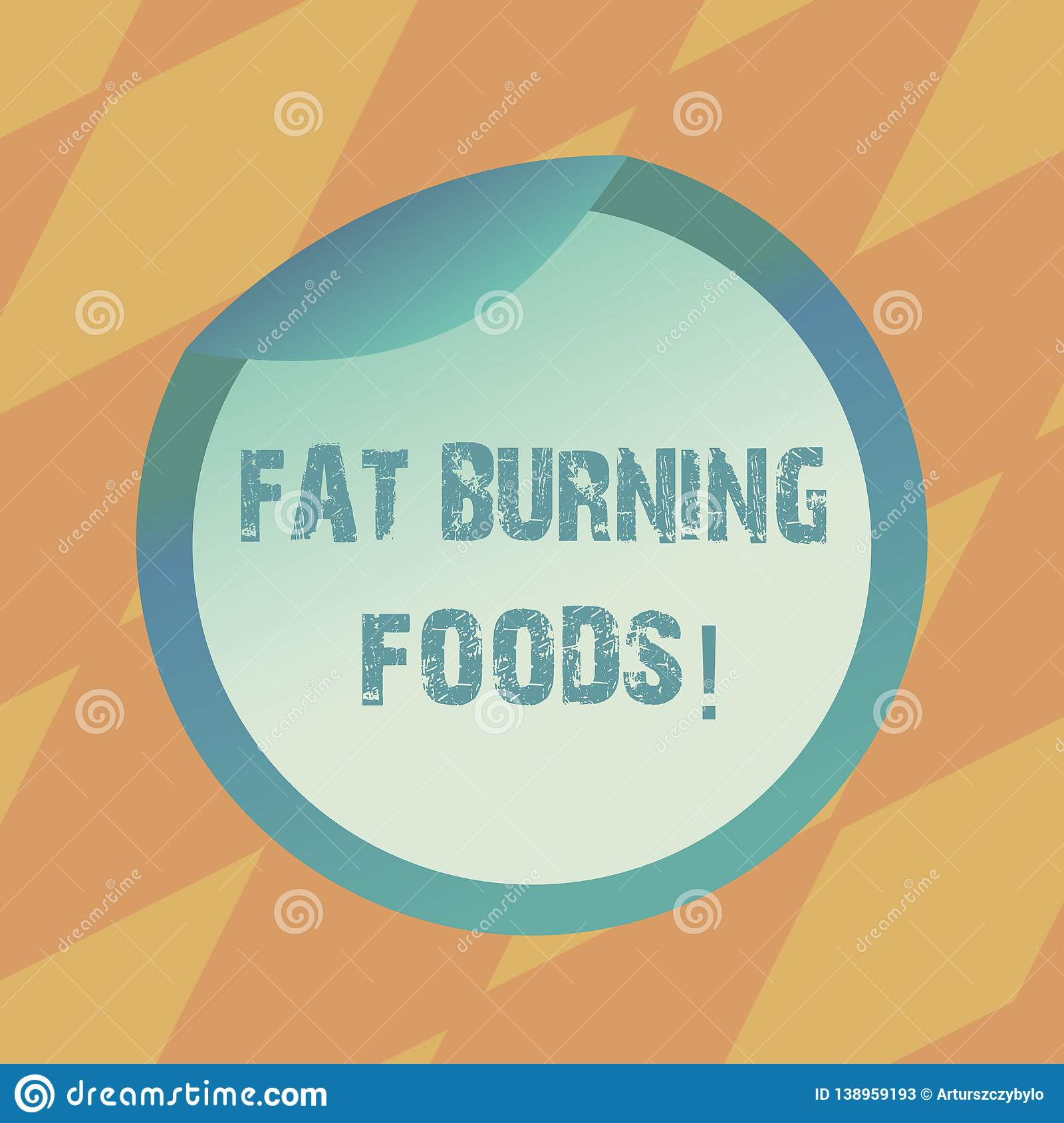 Foods That Burn Calories: Text Sign Showing Fat Burning Foods. Conceptual Photo