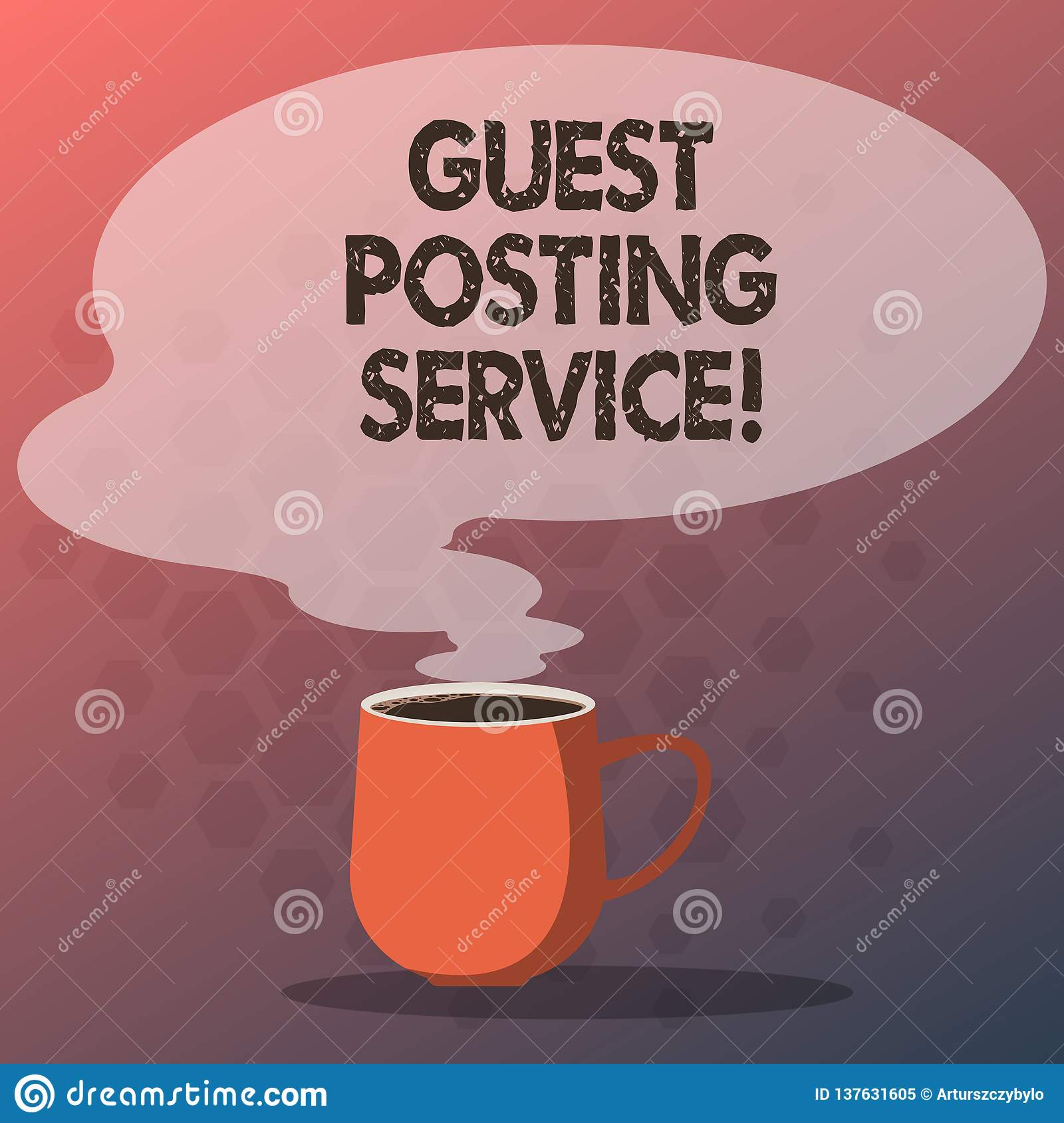 Text Sign Showing Guest Posting Service  Conceptual Photo