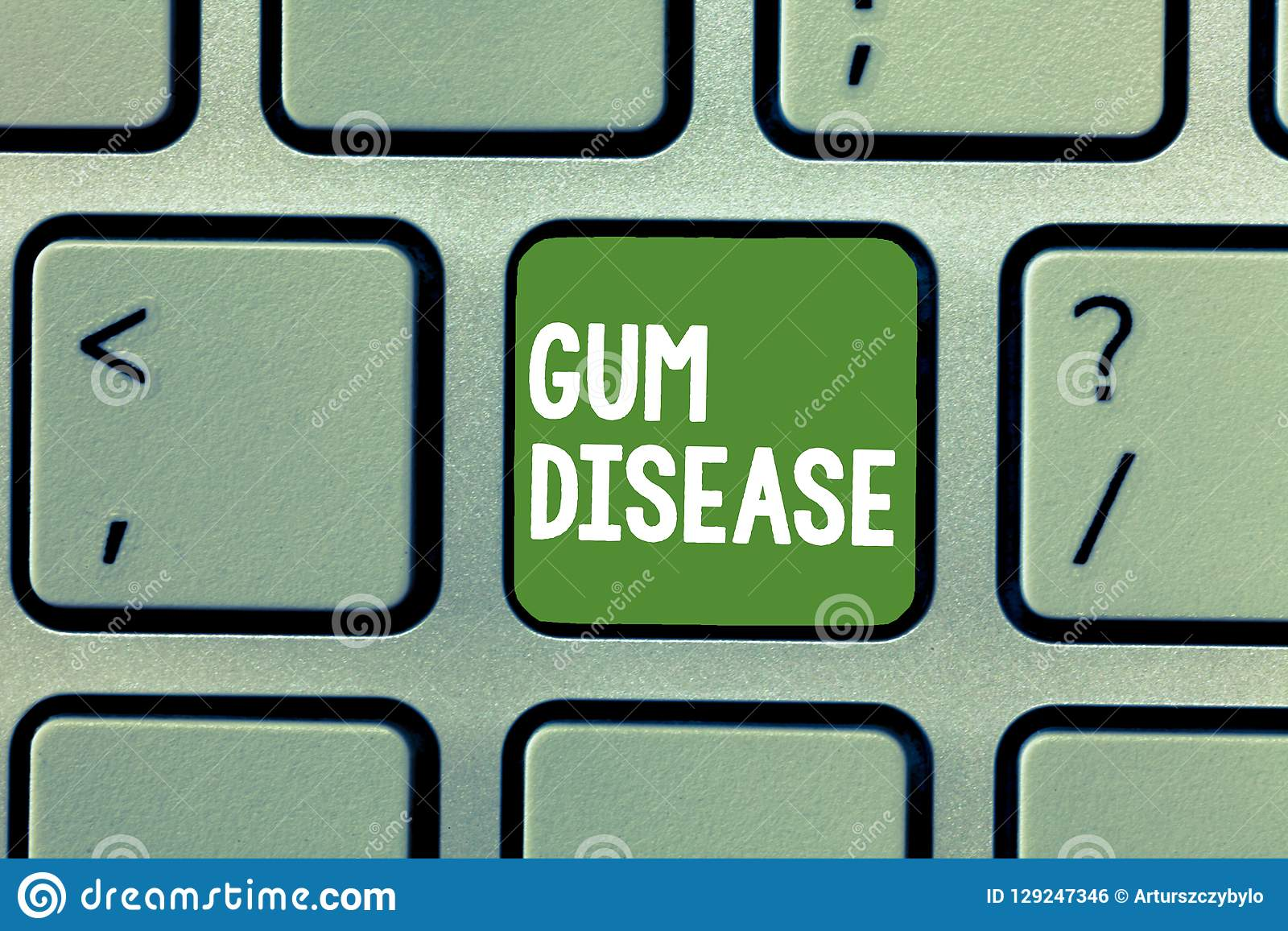 Text sign showing Gum Disease. Conceptual photo Inflammation of the soft tissue Gingivitis Periodontitis