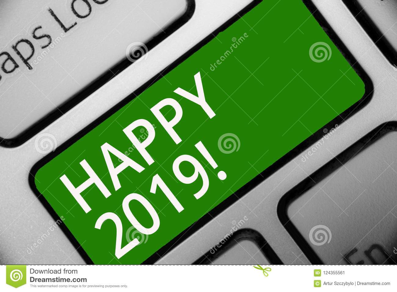 Text Sign Showing Happy 2019 Conceptual Photo Time Or Day At Which