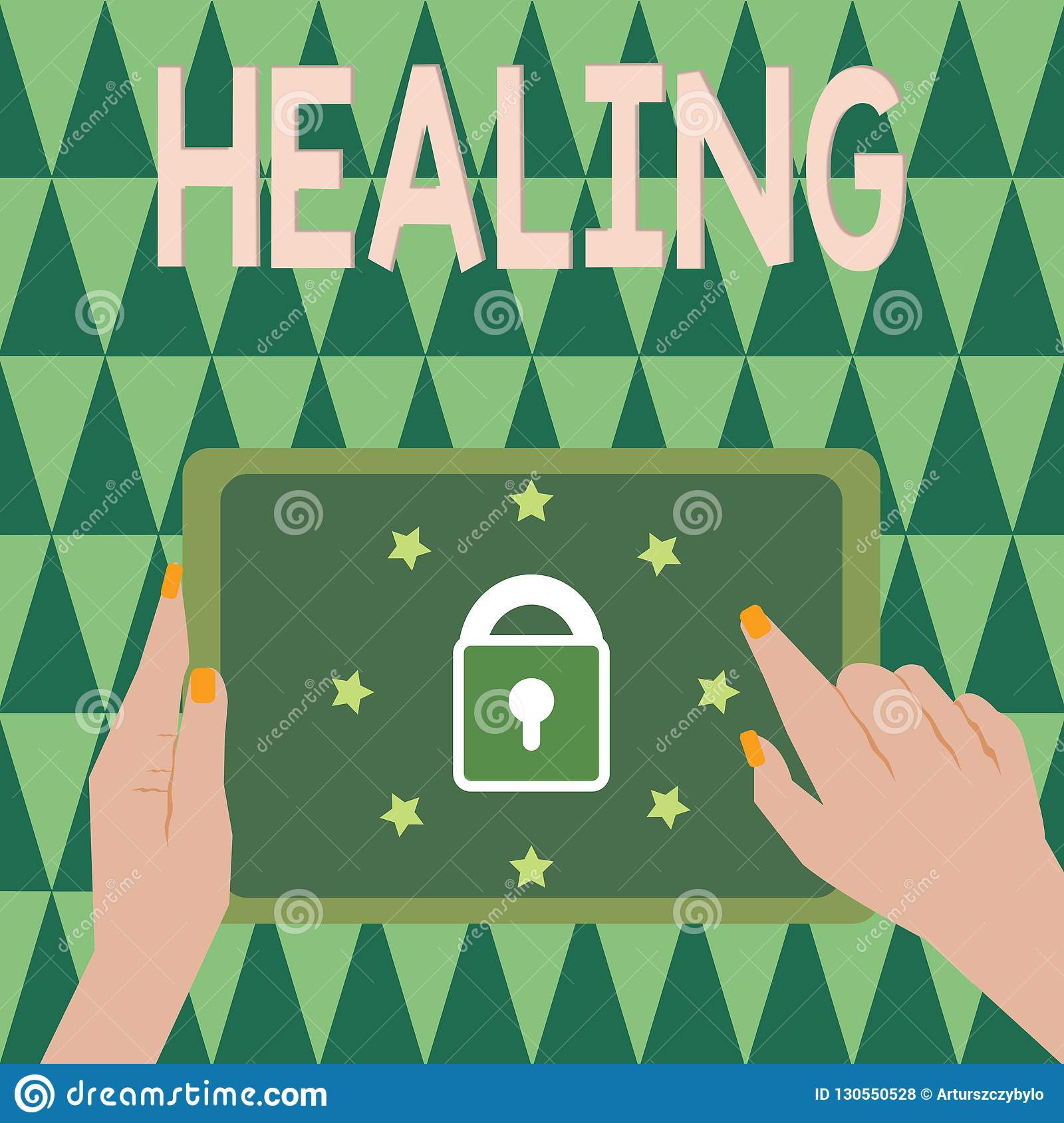 Text sign showing Healing. Conceptual photo process of making or becoming sound or healthy again Helping injured