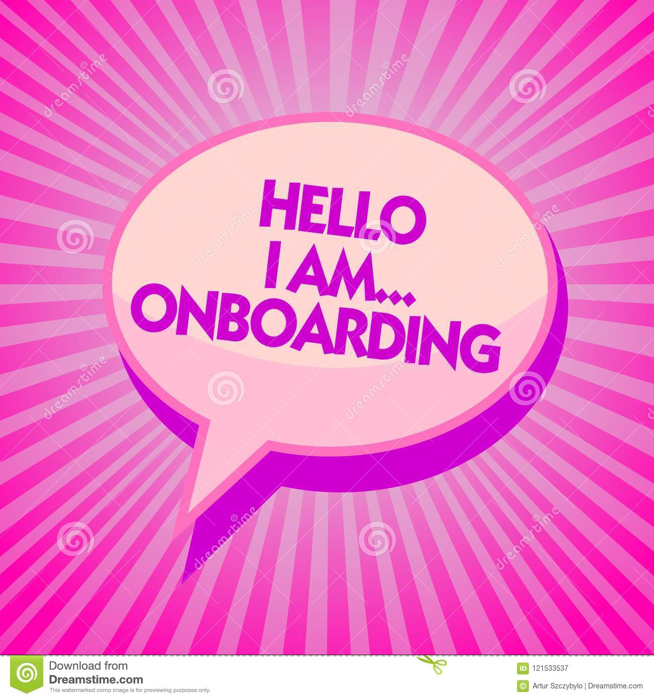 Text Sign Showing Hello I Am    Onboarding  Conceptual Photo