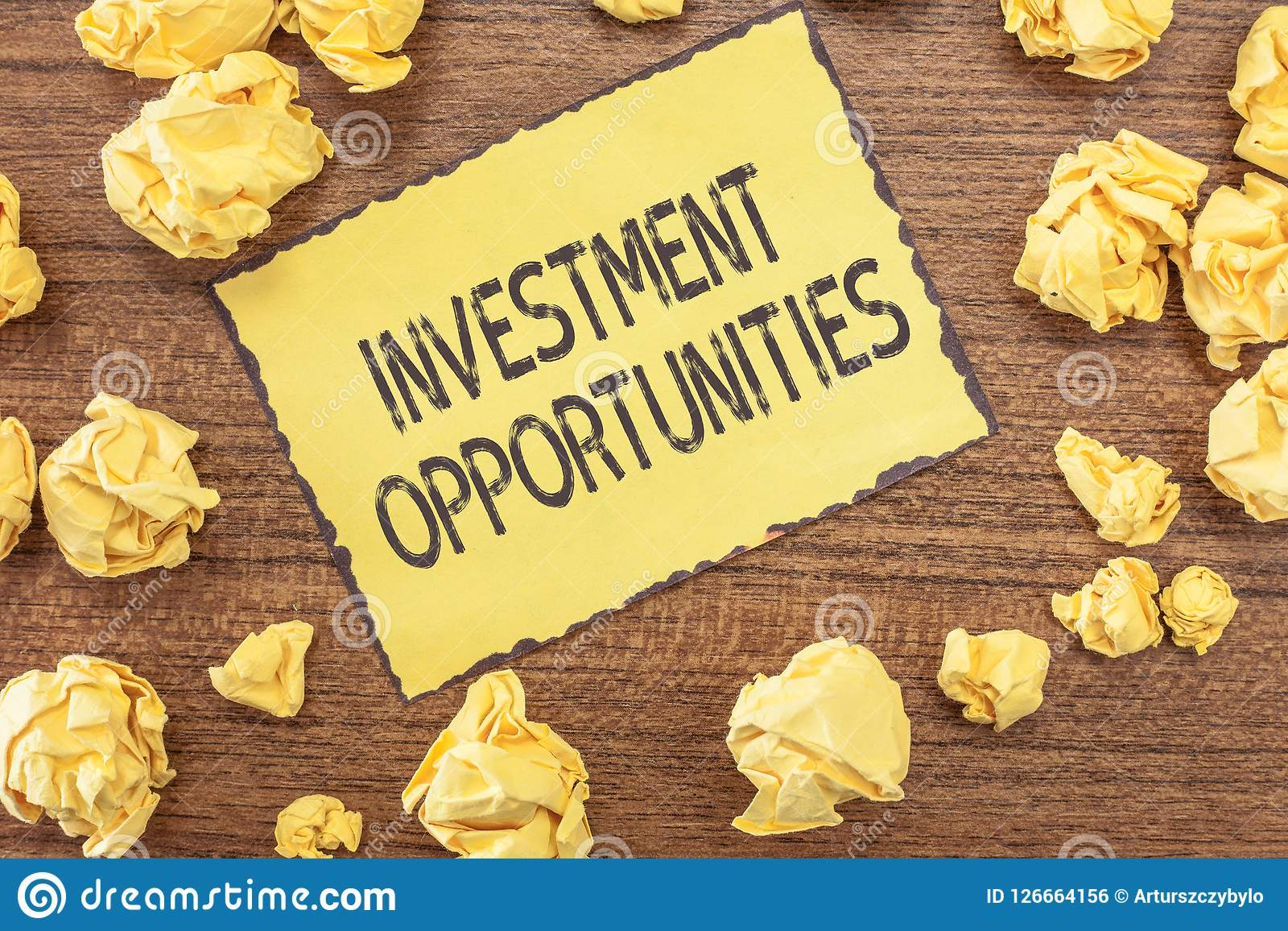 Text sign showing Investment Opportunities. Conceptual photo a Purchase that has a chance to Gain Value.  Royalty Free Stock Image
