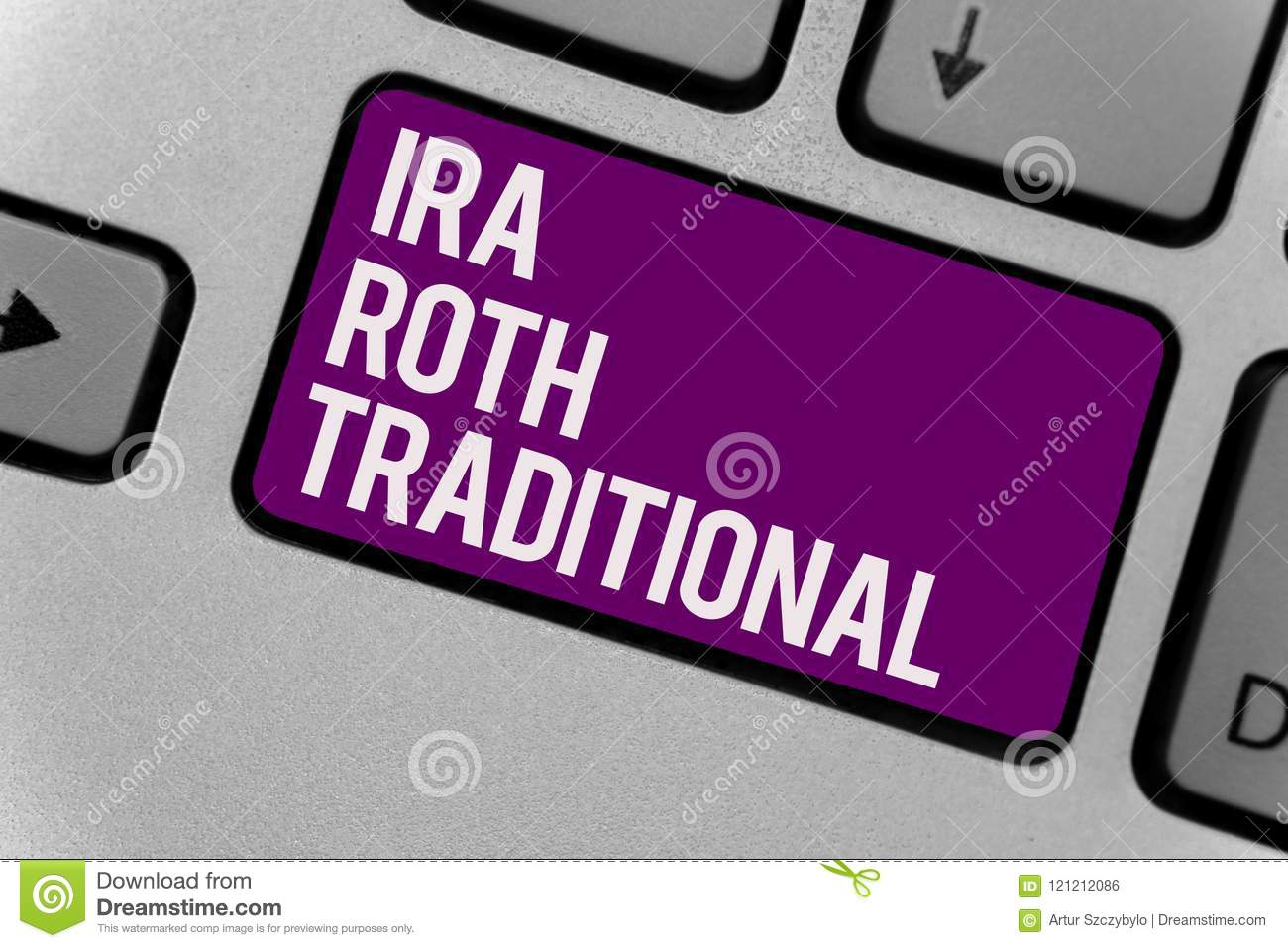 Text Sign Showing Ira Roth Traditional. Conceptual Photo ...