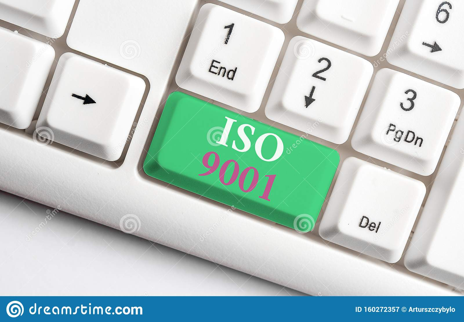 Text Sign Showing Iso 9001. Conceptual Photo Designed Help
