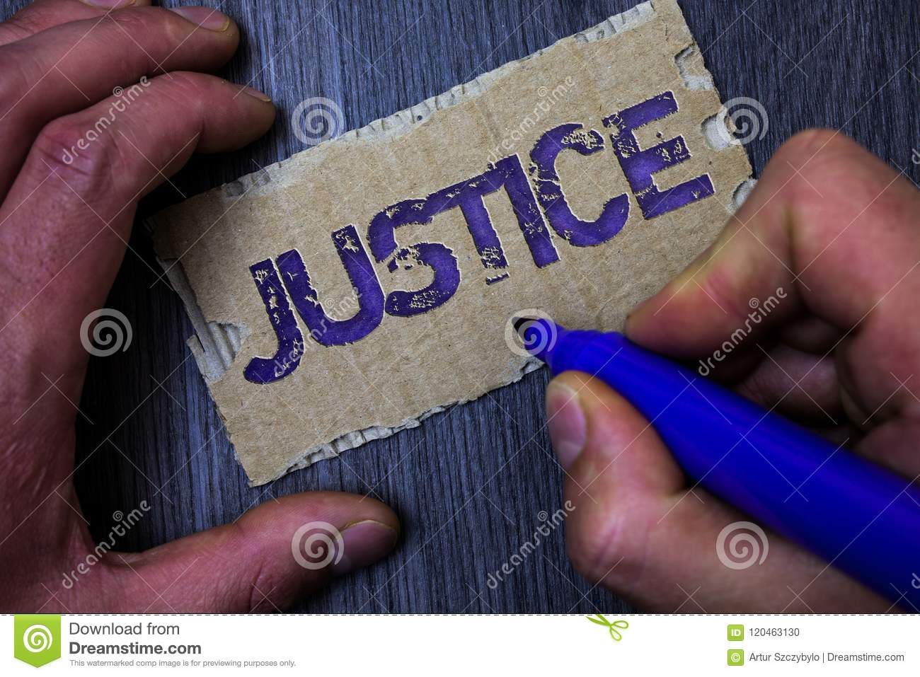 Text Sign Showing Justice  Conceptual Photo Quality Of Being