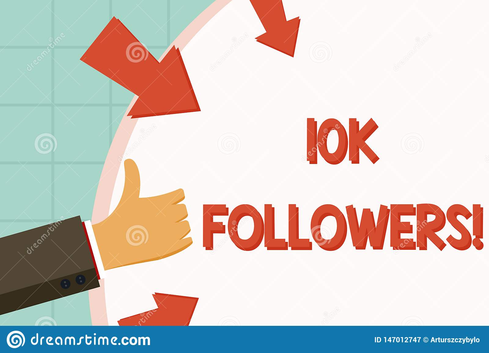 Text Sign Showing 10K Followers  Conceptual Photo Member Of
