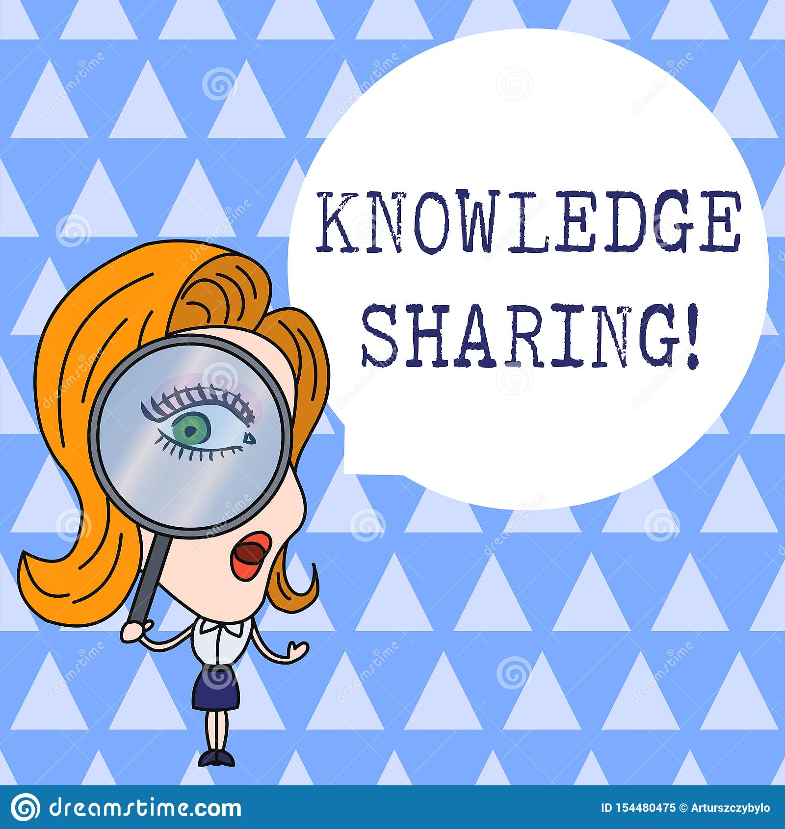 Text sign showing Knowledge Sharing. Conceptual photo deliberate exchange of information that helps with agility Woman