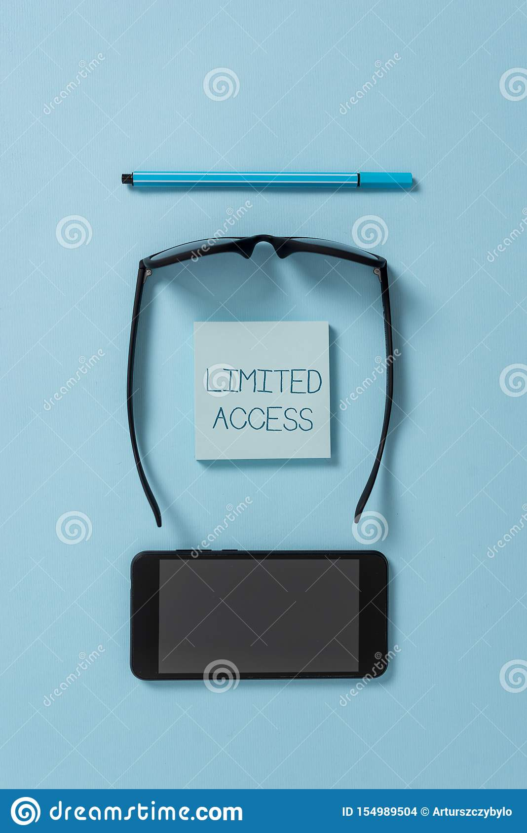 Text sign showing Limited Access. Conceptual photo Having access restricted to a quite small number of points Dark