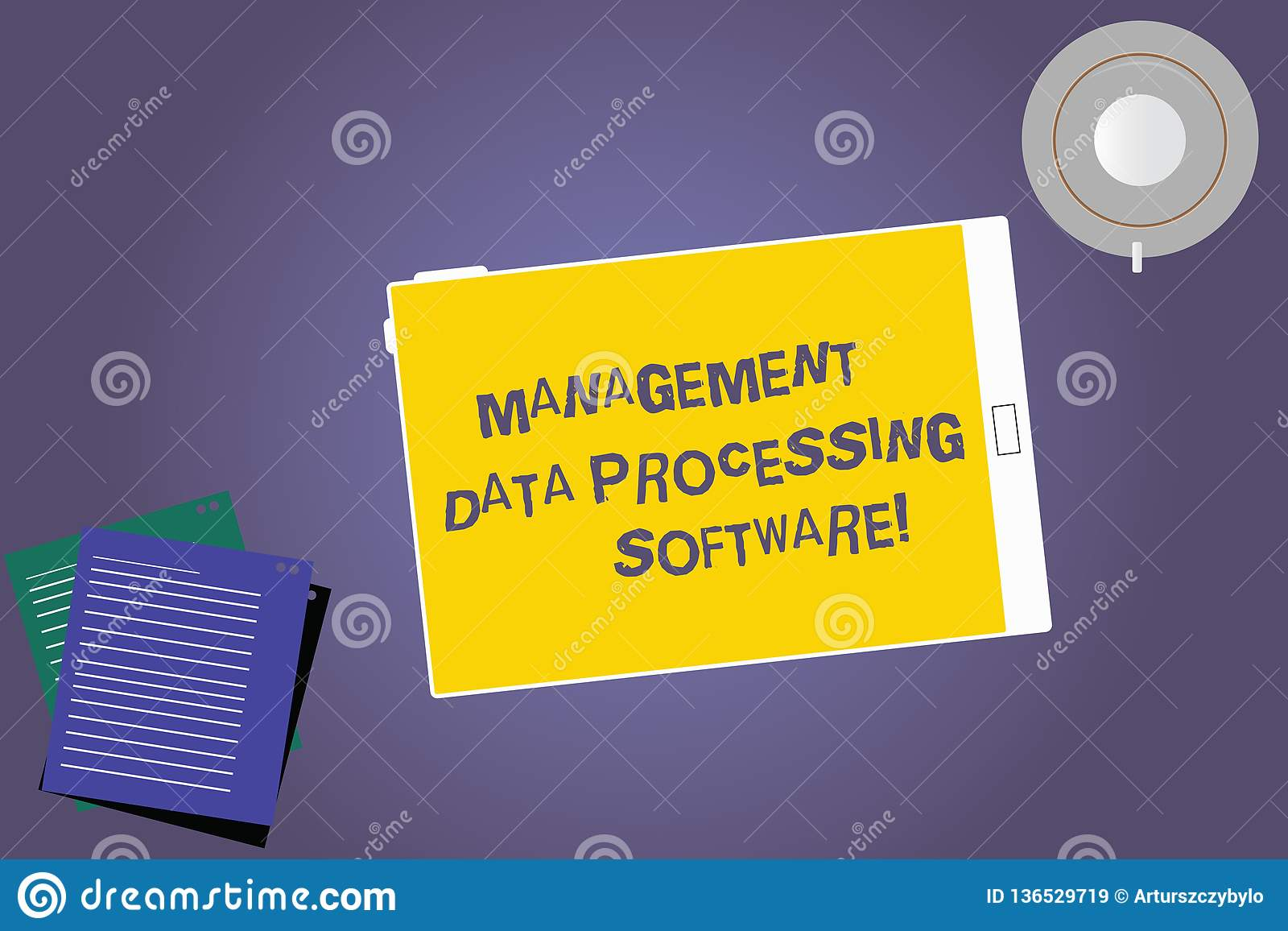 Text Sign Showing Management Data Processing Software