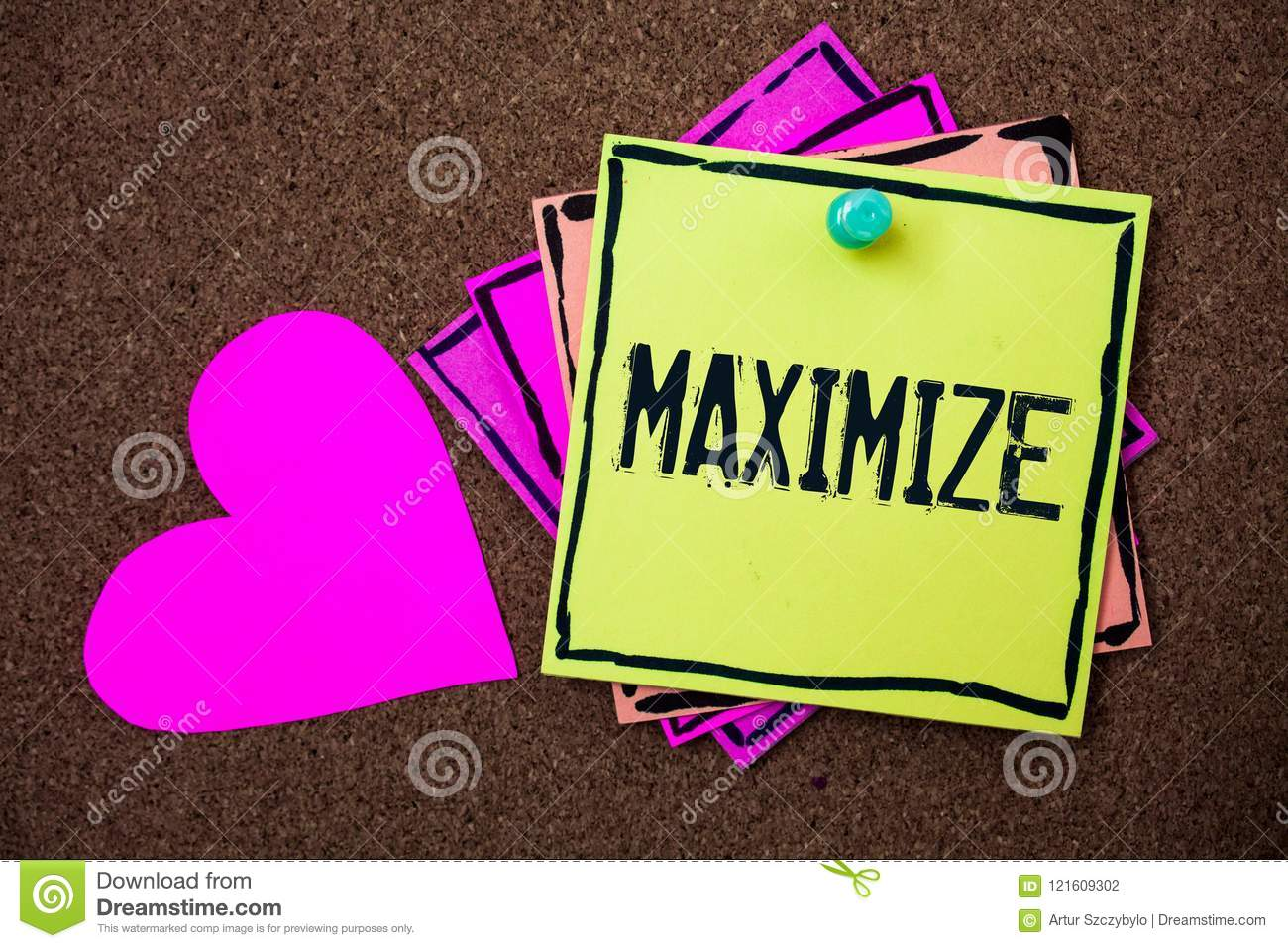 Text sign showing Maximize. Conceptual photo Increase to the greatest possible amount or degree Make larger Multi colour small sti