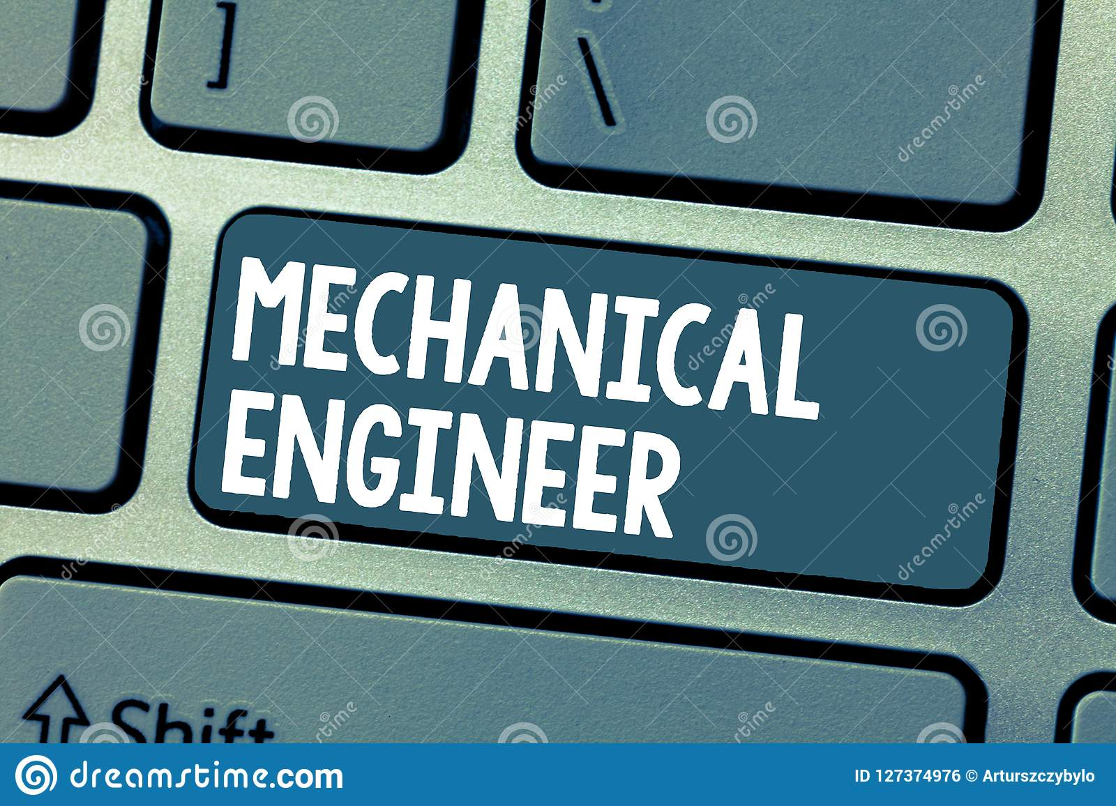Text sign showing Mechanical Engineer. Conceptual photo Applied Engineering Discipline for Mechanical System