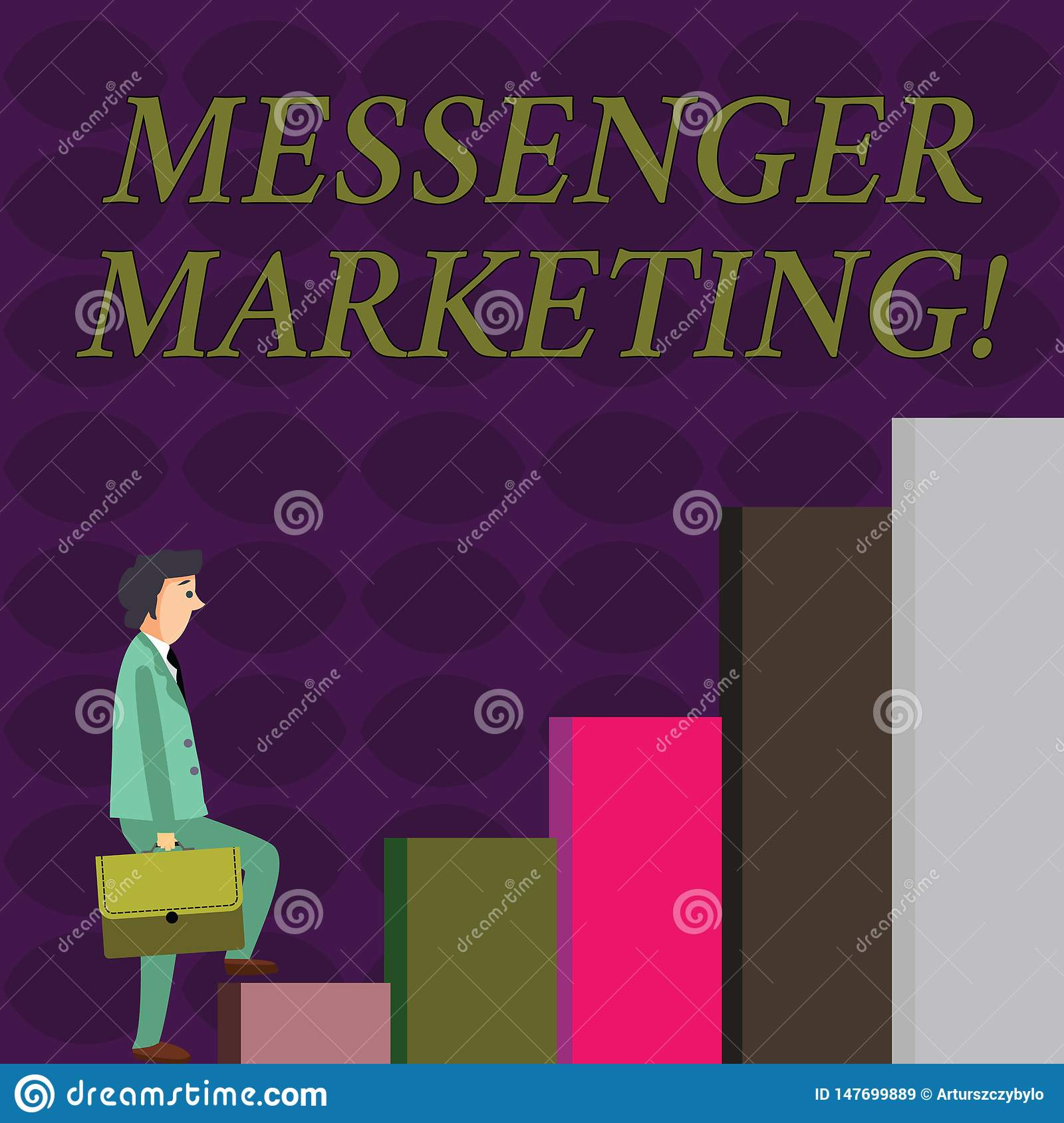 Text sign showing Messenger Marketing. Conceptual photo act of marketing to your customers using a messaging app
