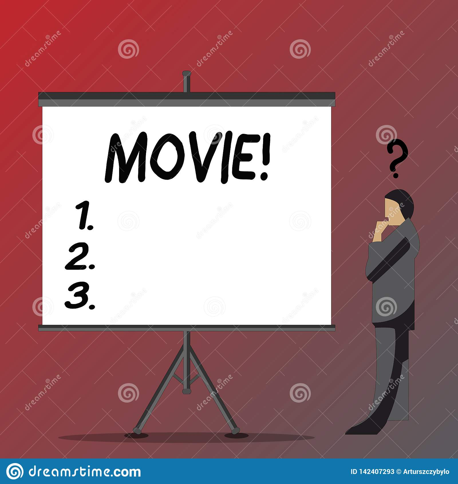 Text sign showing Movie. Conceptual photo Cinema or television film Motion picture Video displayed on screen Businessman
