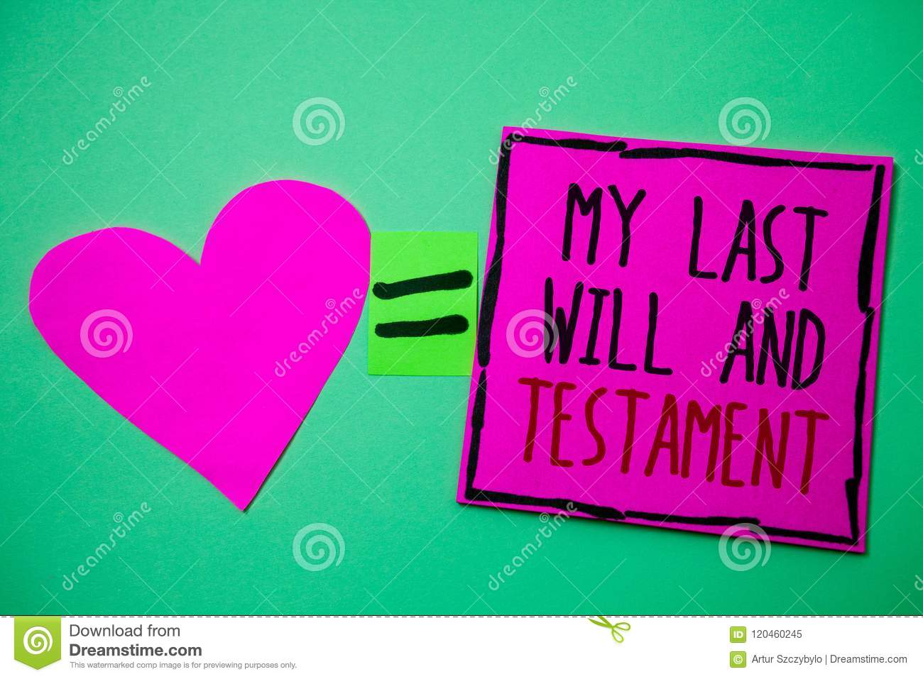 Text Sign Showing My Last Will And Testament Conceptual Photo List