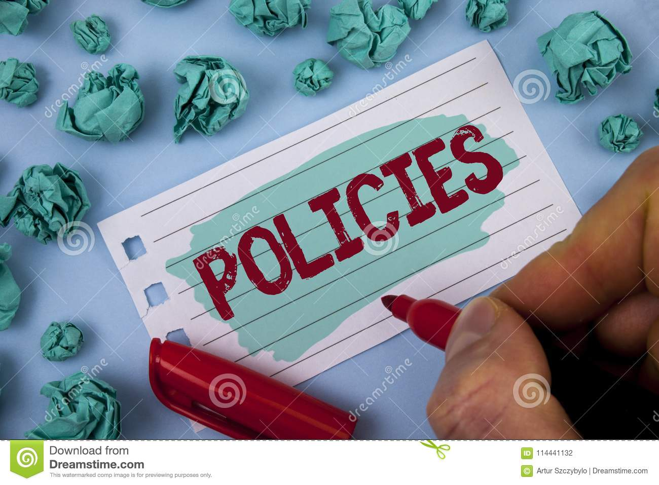 Text Sign Showing Policies  Conceptual Photo Business