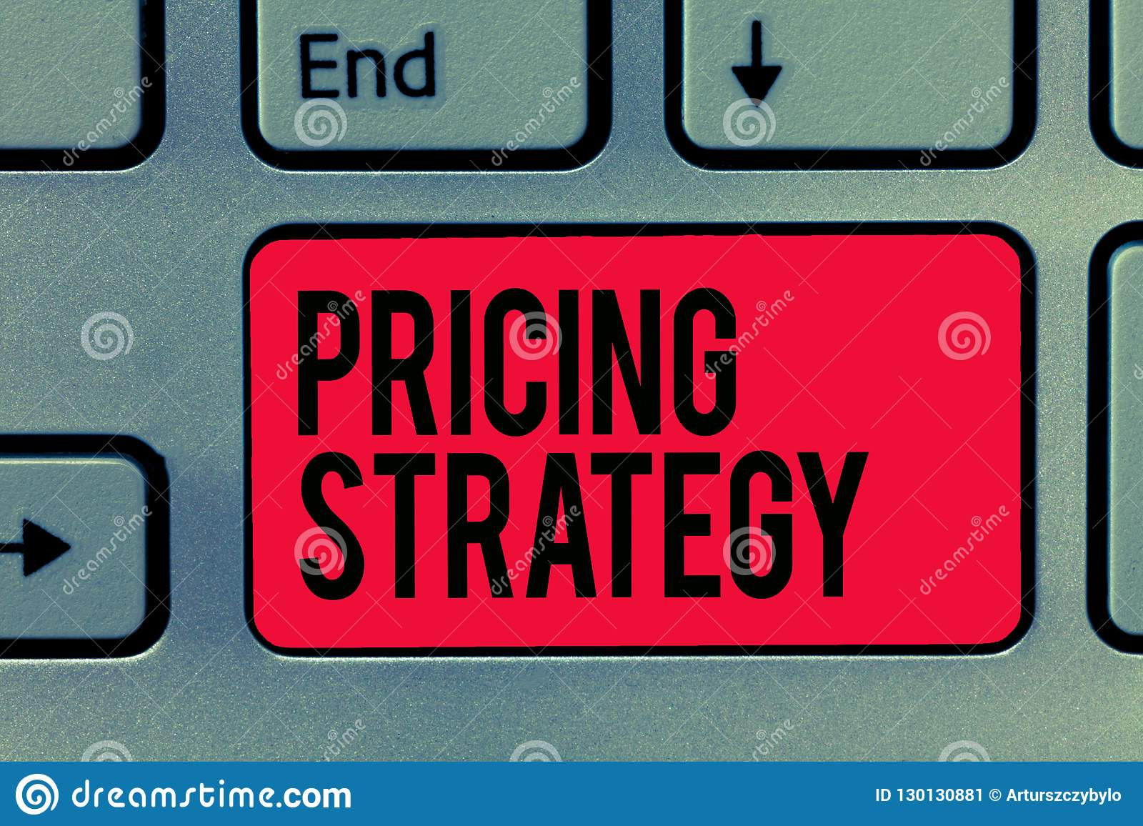 Text sign showing Pricing Strategy. Conceptual photo set maximize profitability for unit sold or market overall