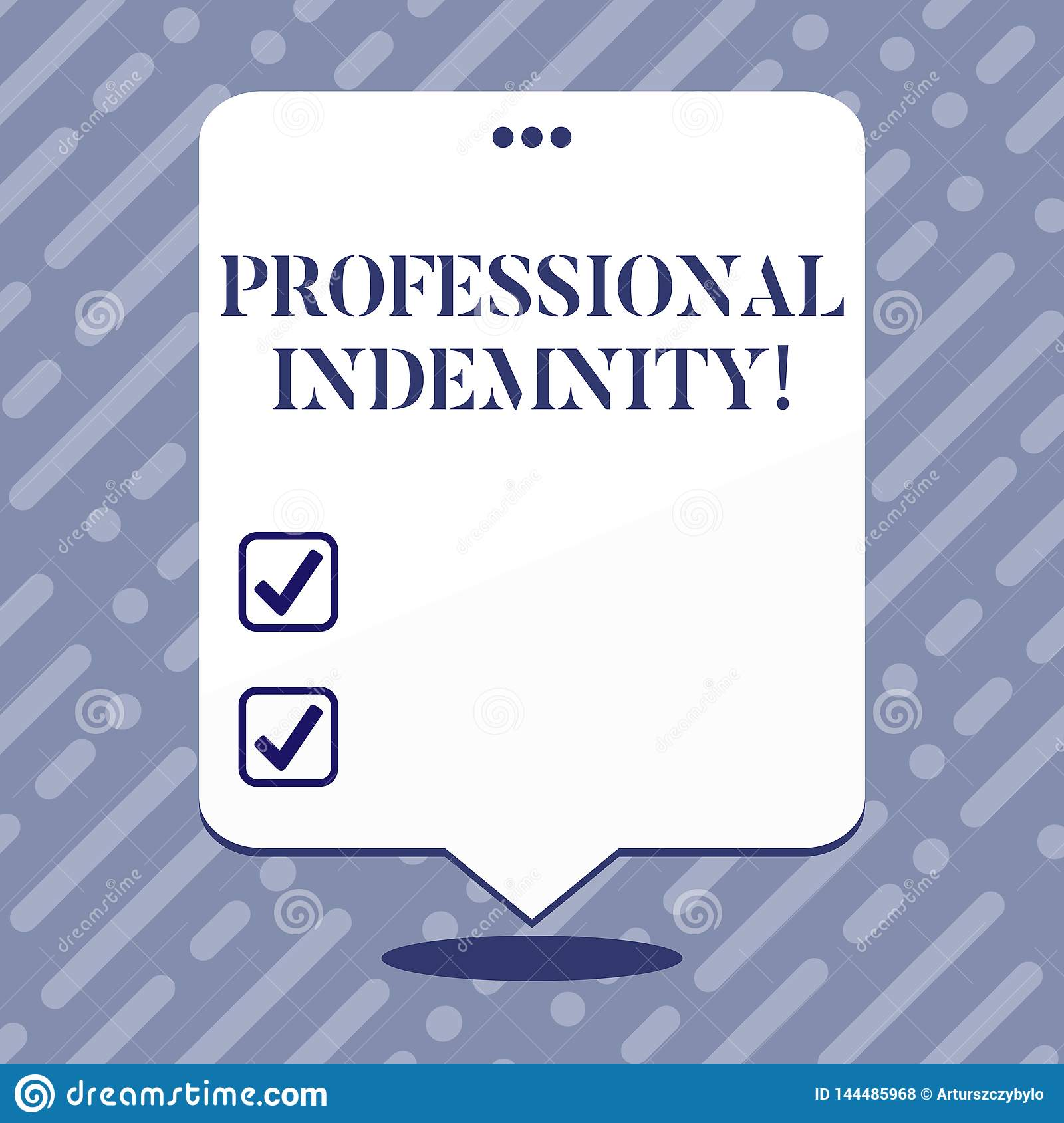 Text Sign Showing Professional Indemnity. Conceptual Photo ...