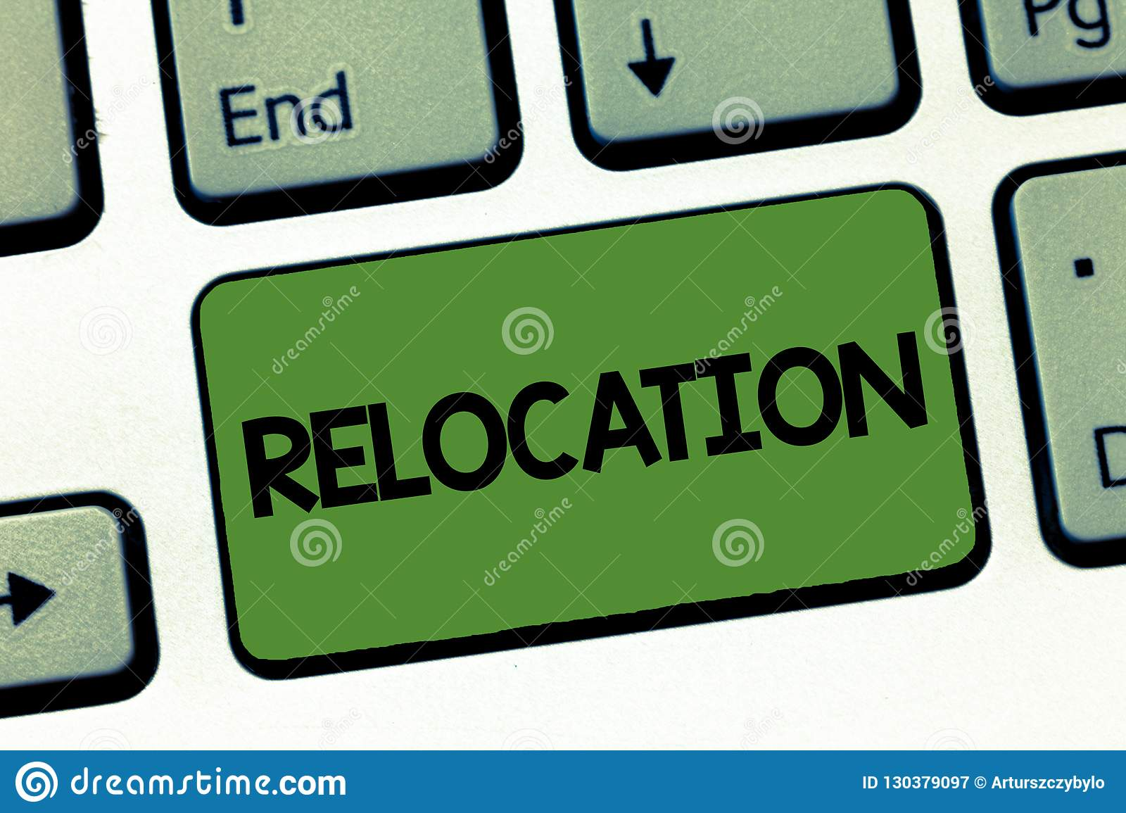 Text sign showing Relocation. Conceptual photo Action of moving to a new place and establishing home or business